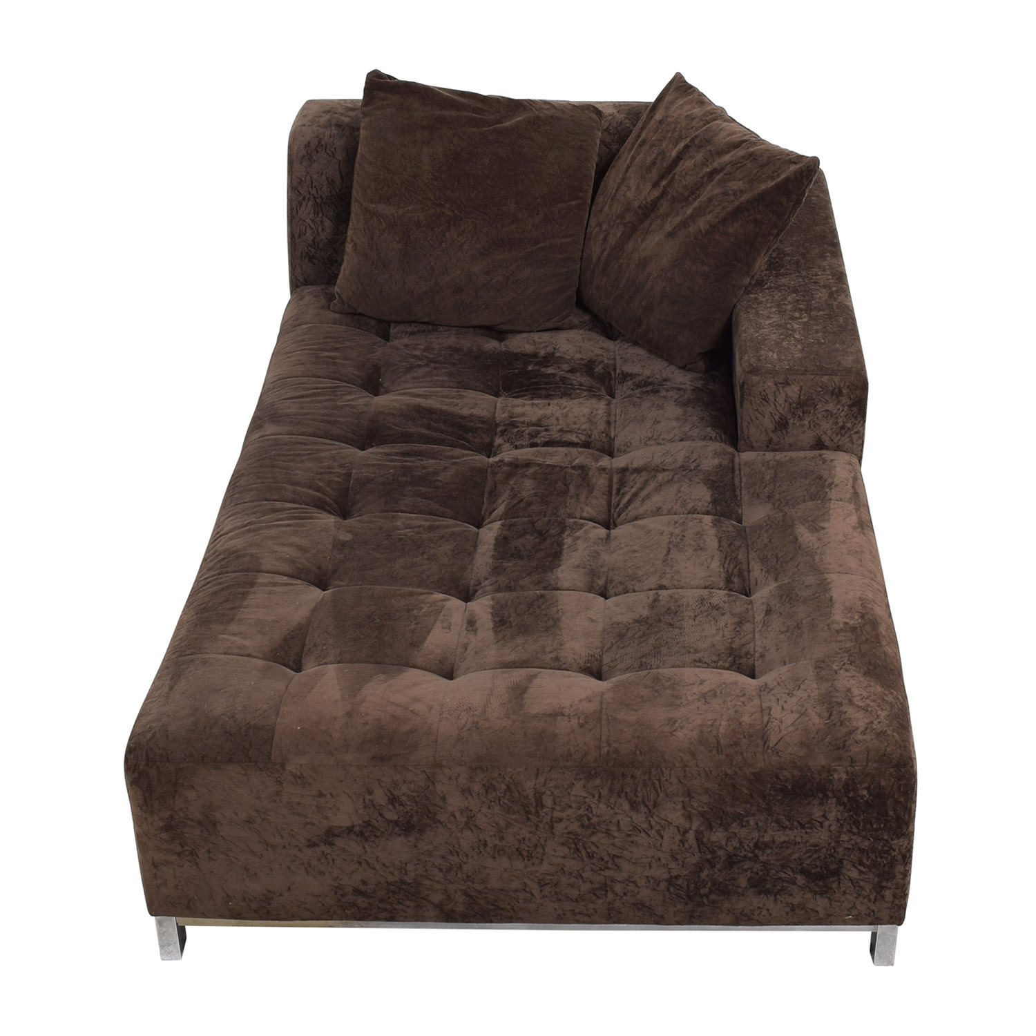 Safaviah Brown Tufted Chaise Lounge / Sofas