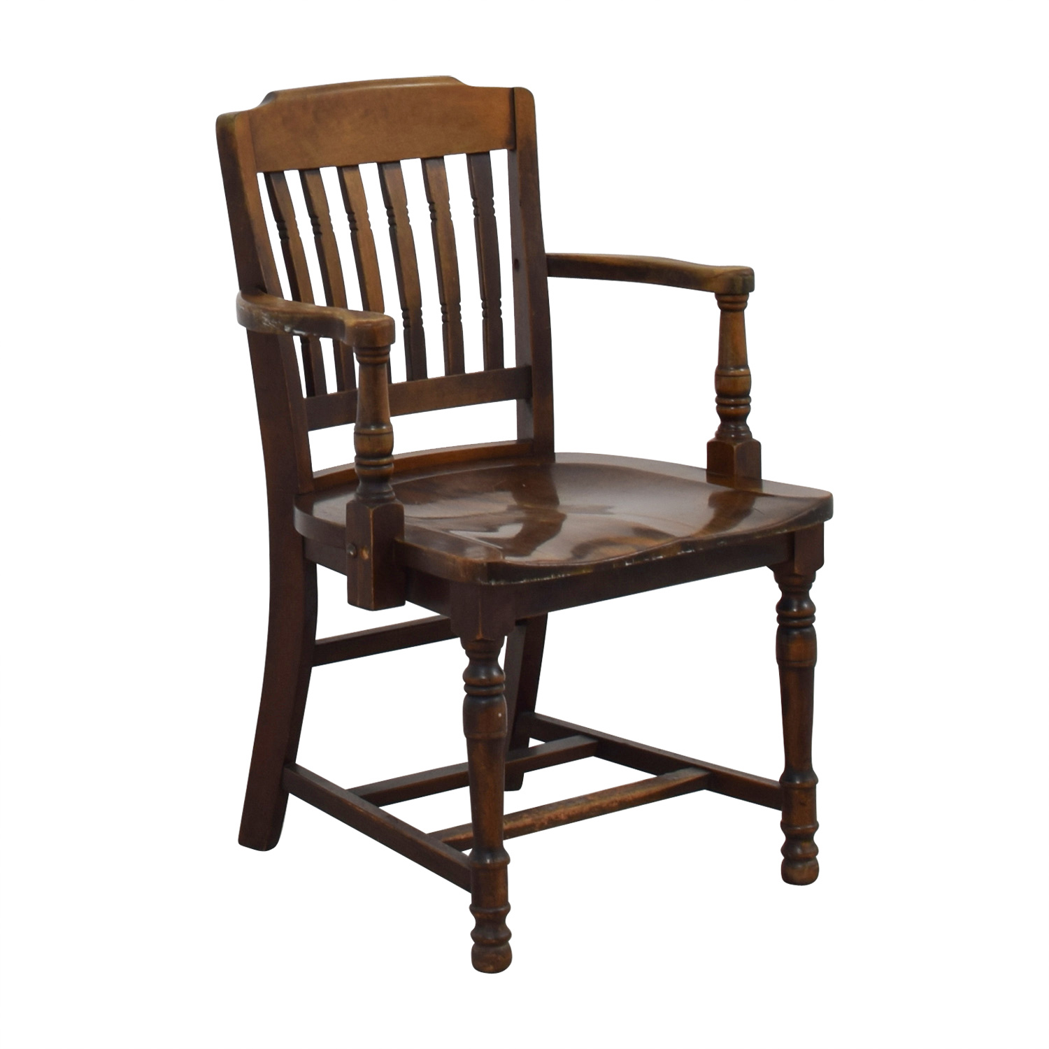 Antique Wood Spindel Chair / Chairs
