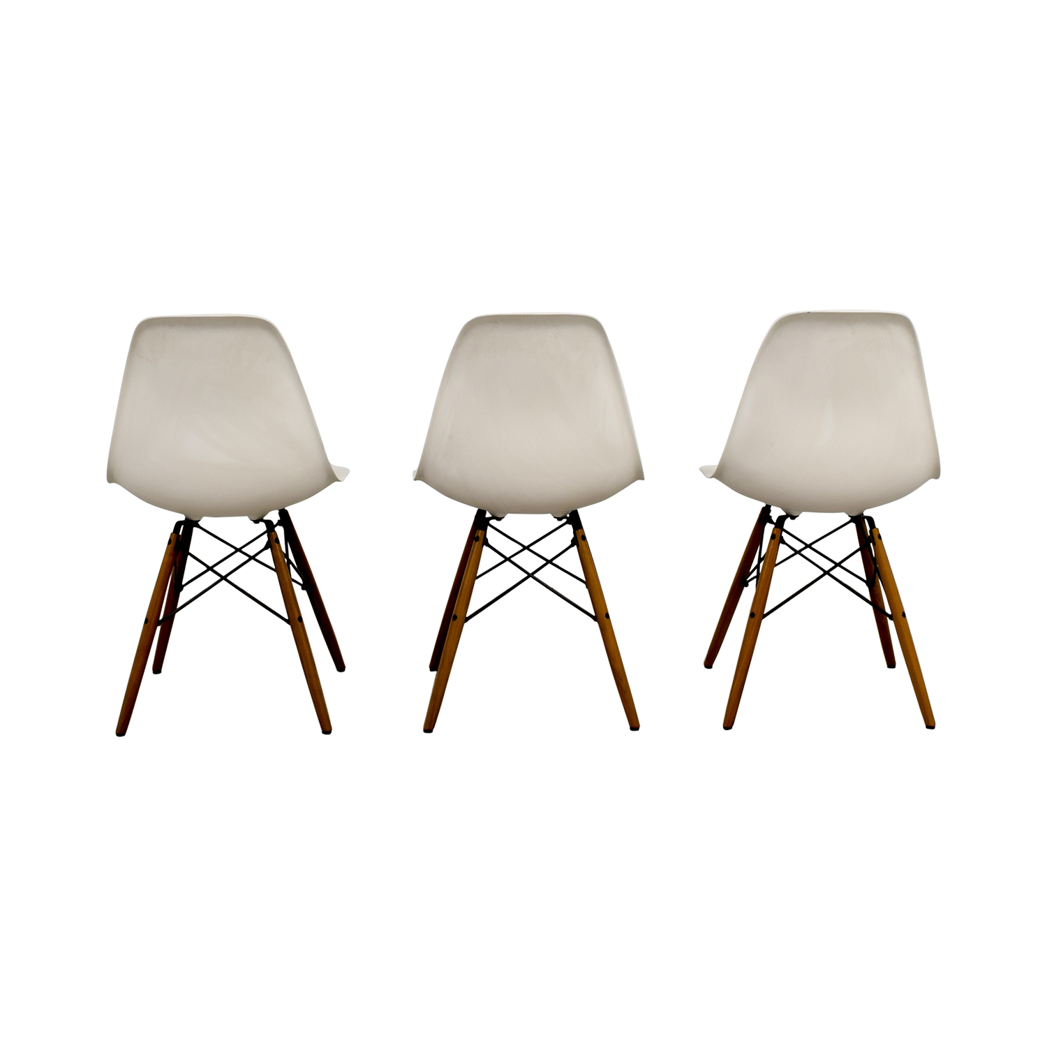 43% OFF Eames Molded Plastic Side Chairs Chairs