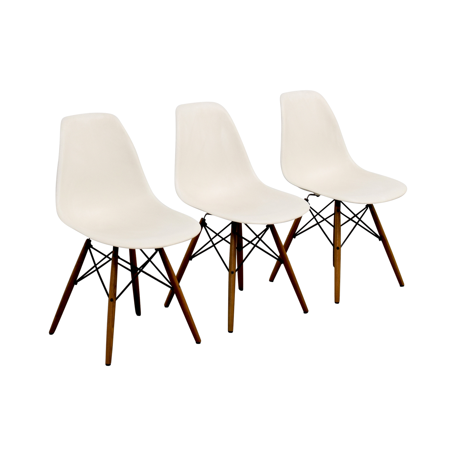 shop Eames Molded Plastic Side Chairs Accent Chairs
