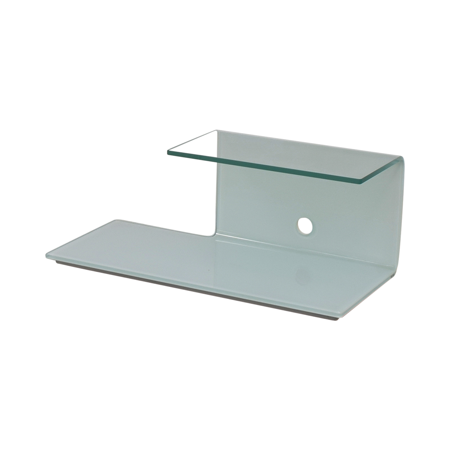 Sovet Sovet Toby Glass and White TV Stand discount