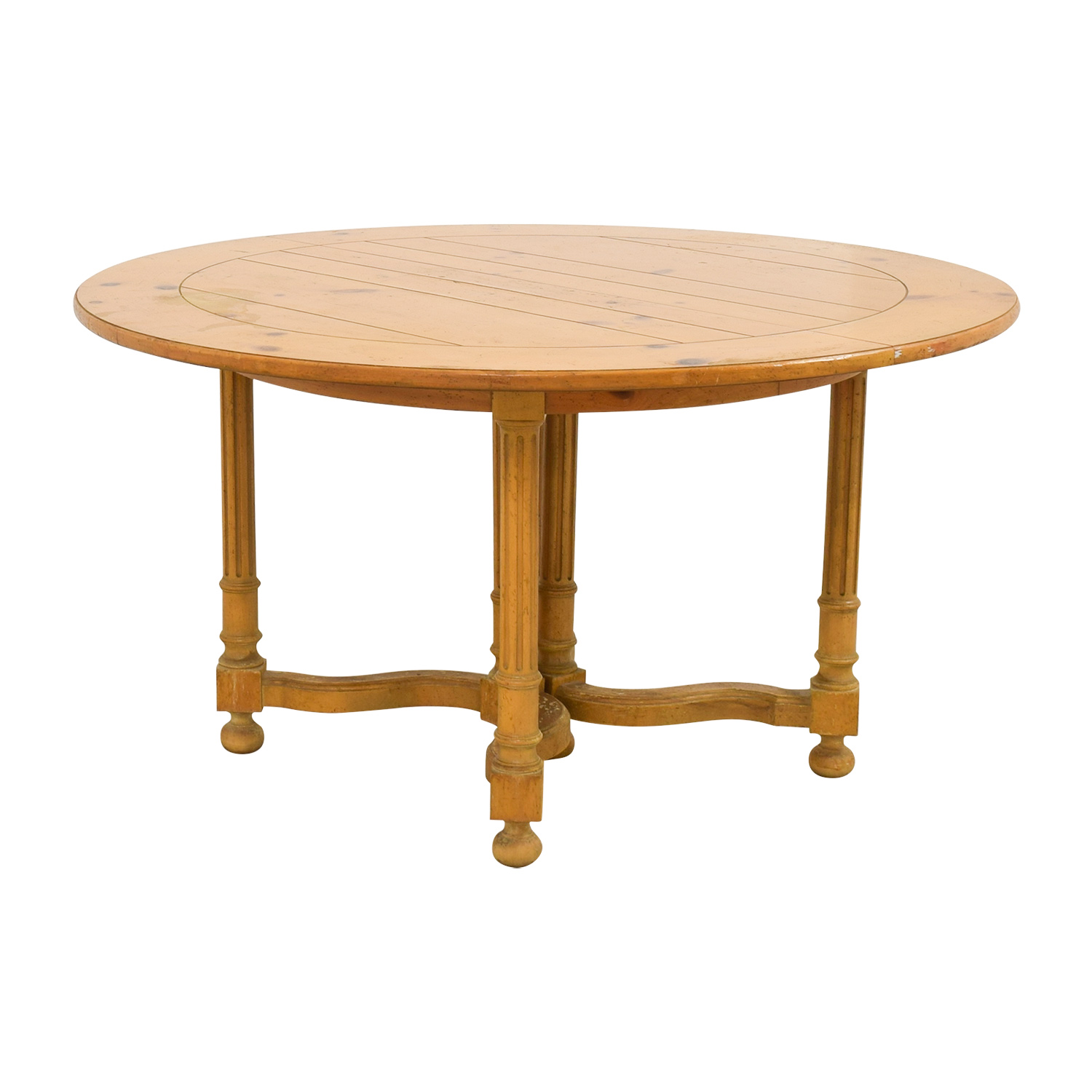 Milling Road Natural Round Table With Leaf For