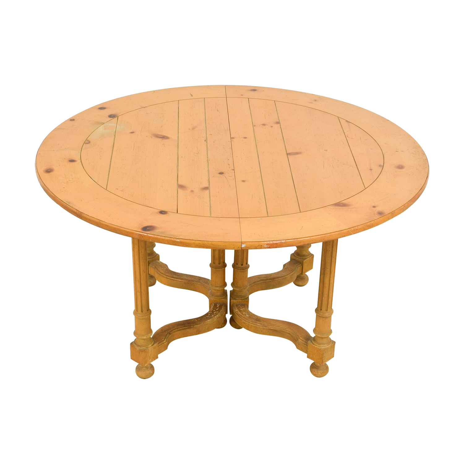 Milling Road Milling Road Natural Round Table with Leaf coupon