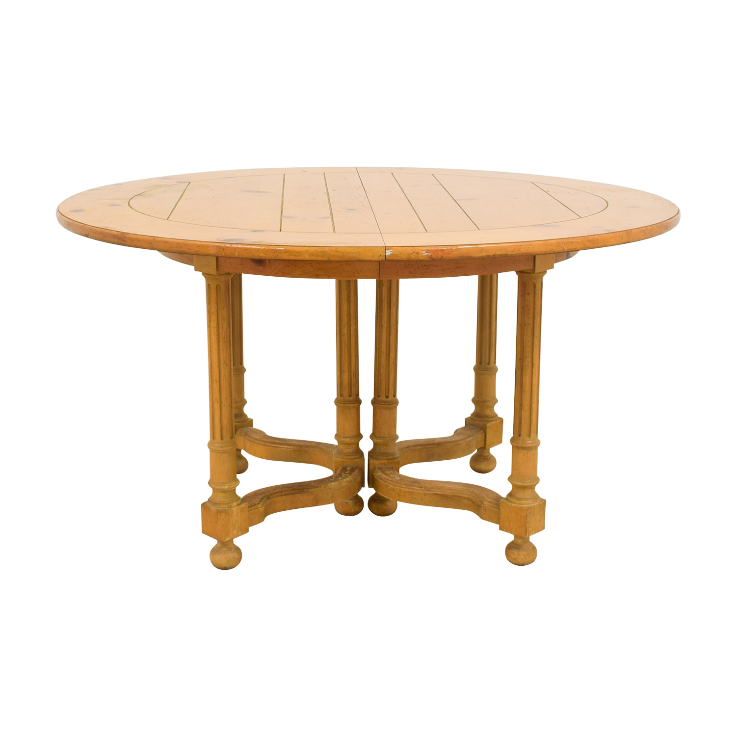 90 Off Baker Furniture Milling Road Natural Round Table With Leaf Tables