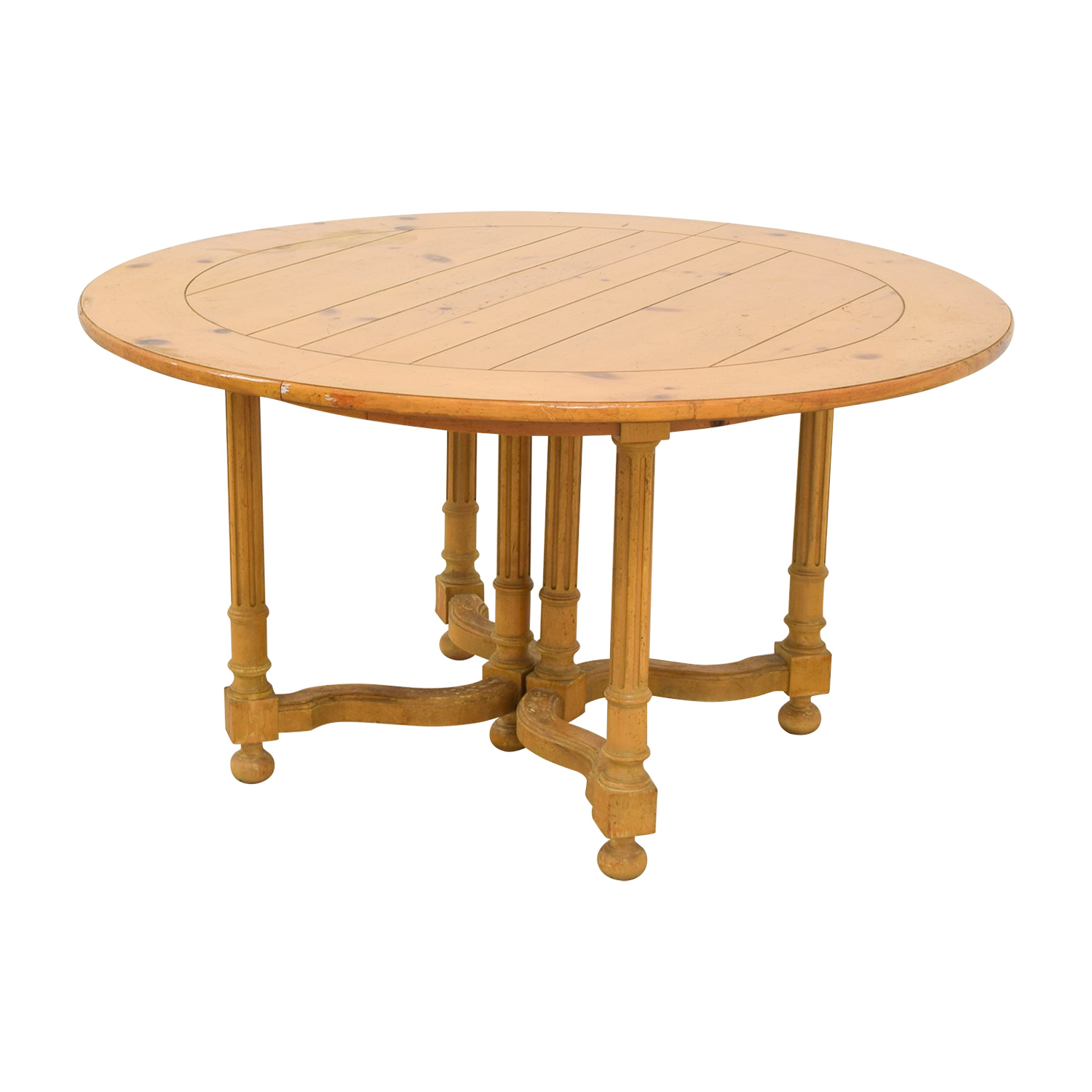 buy Milling Road Natural Round Table with Leaf Milling Road