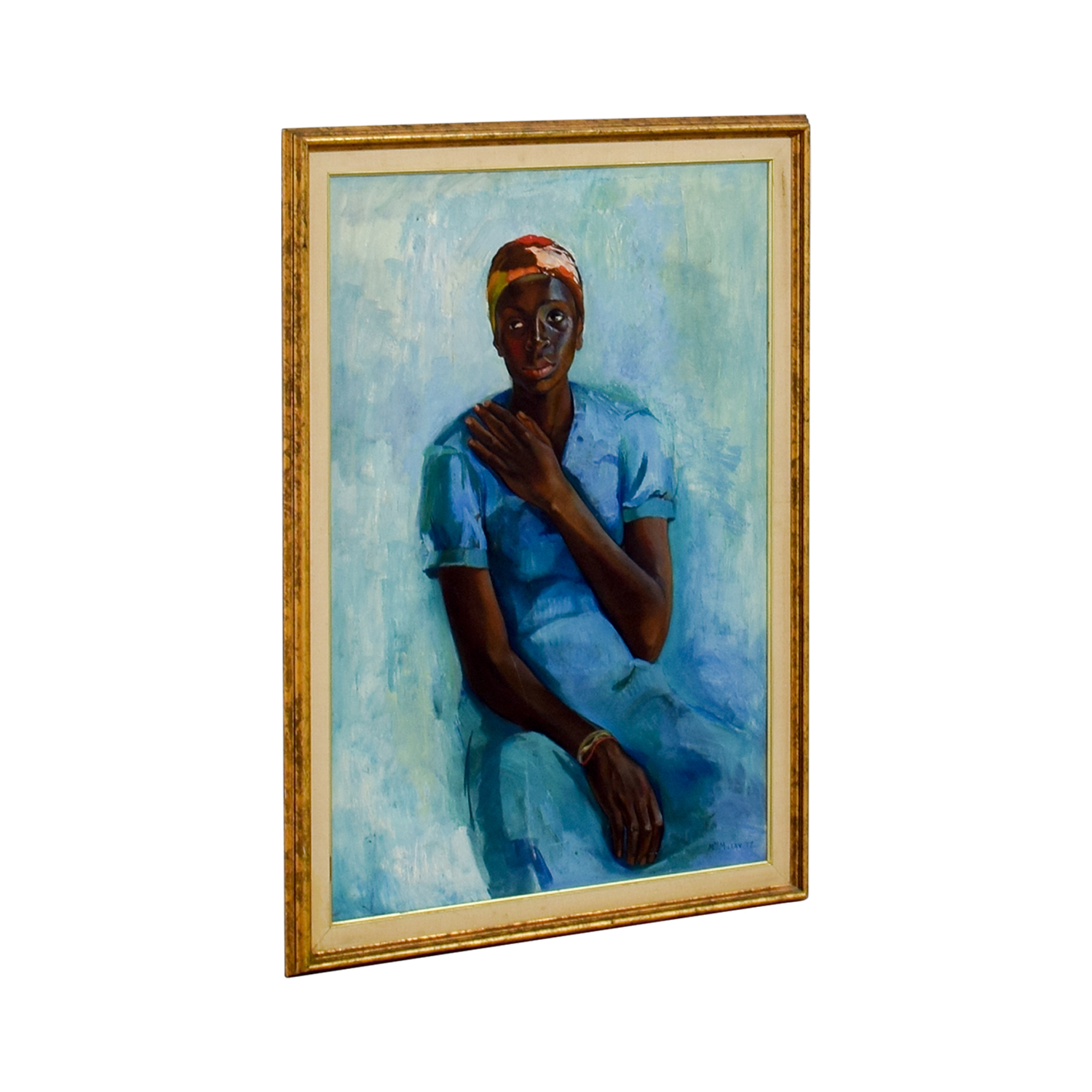 shop Woman in Blue Framed Print