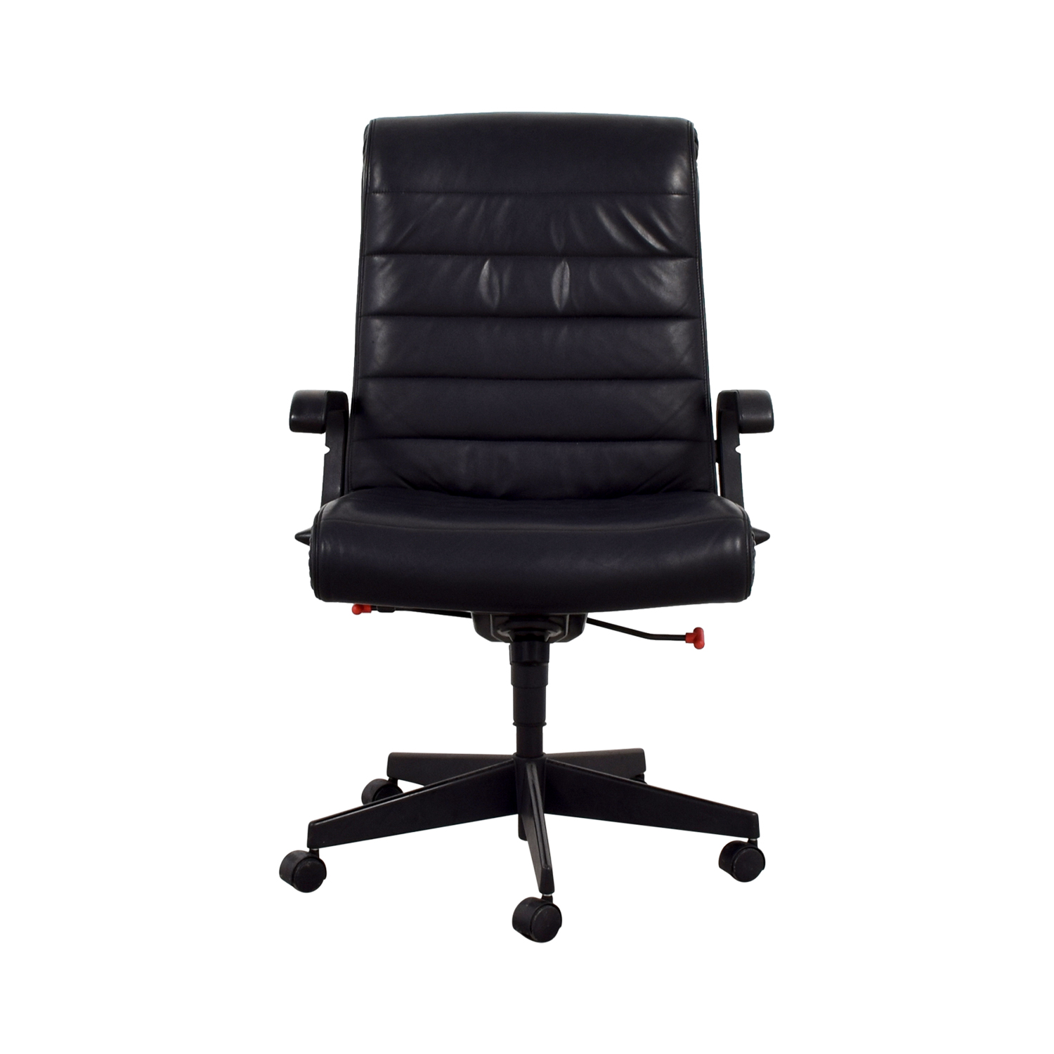 53% off - black leather office chair / chairs