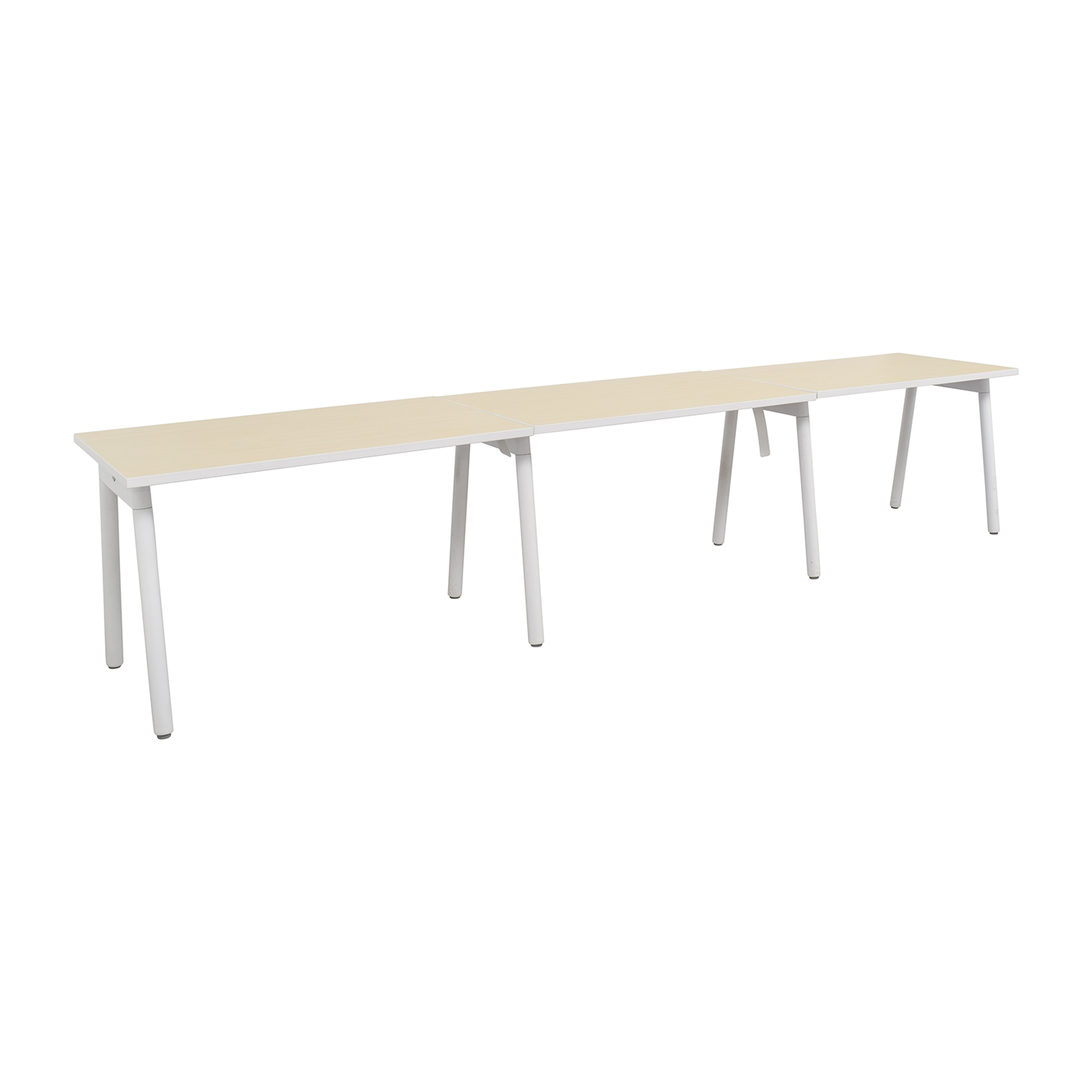 Poppin Poppin White and Natural Office Desk on sale