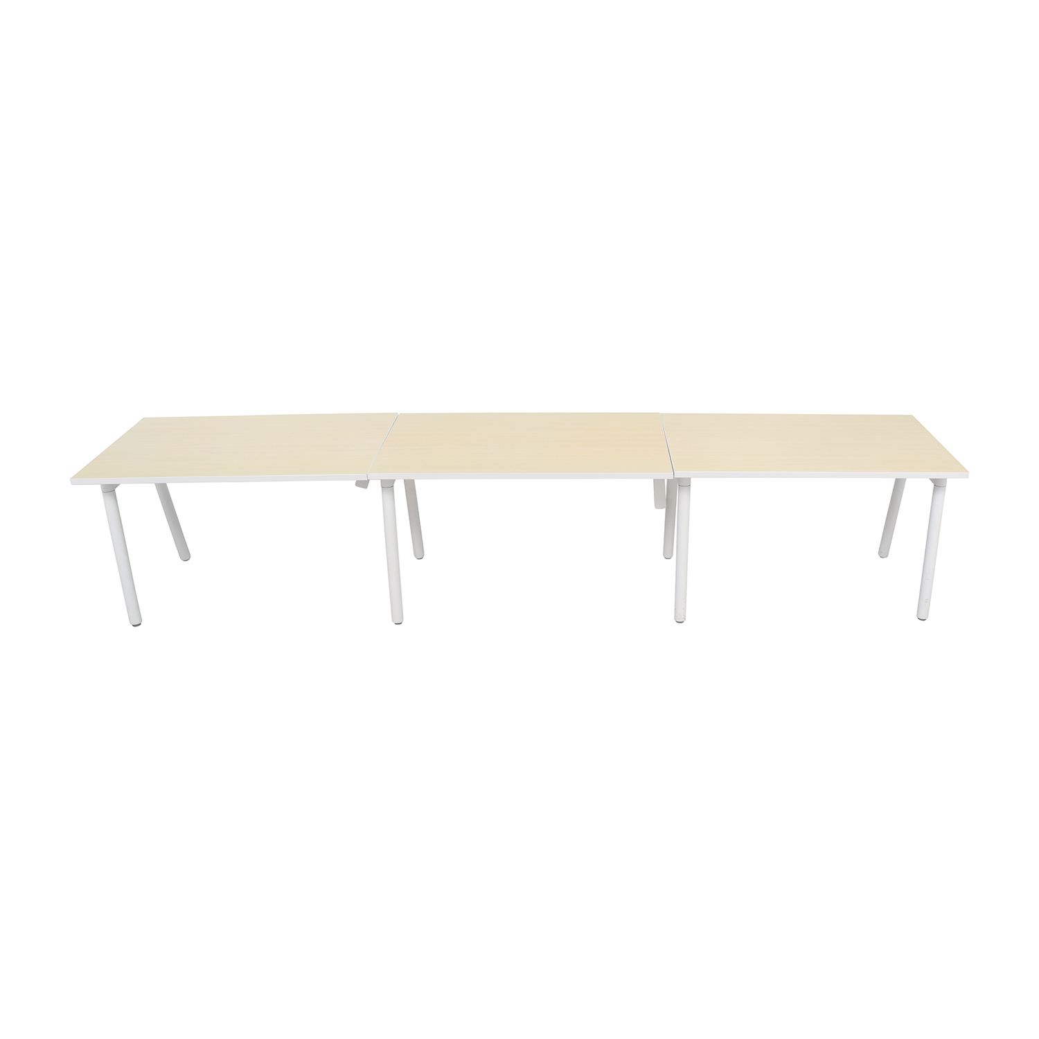 buy Poppin Poppin White and Natural Office Desk online