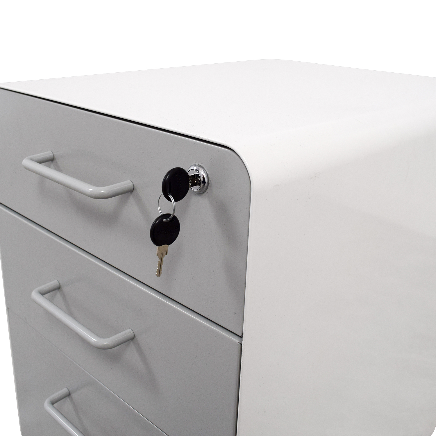 buy Poppin Light Grey and White Three-Drawer File Cabinet Poppin Storage