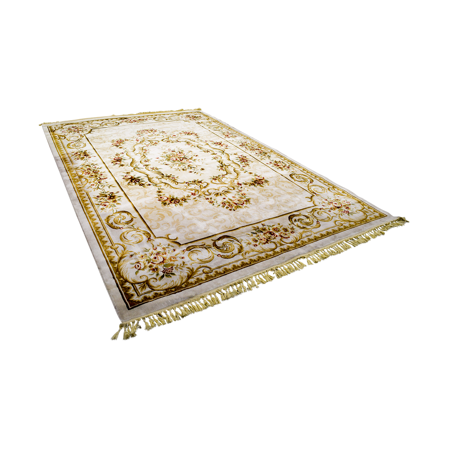 Orient Orient Beige Floral Rug used