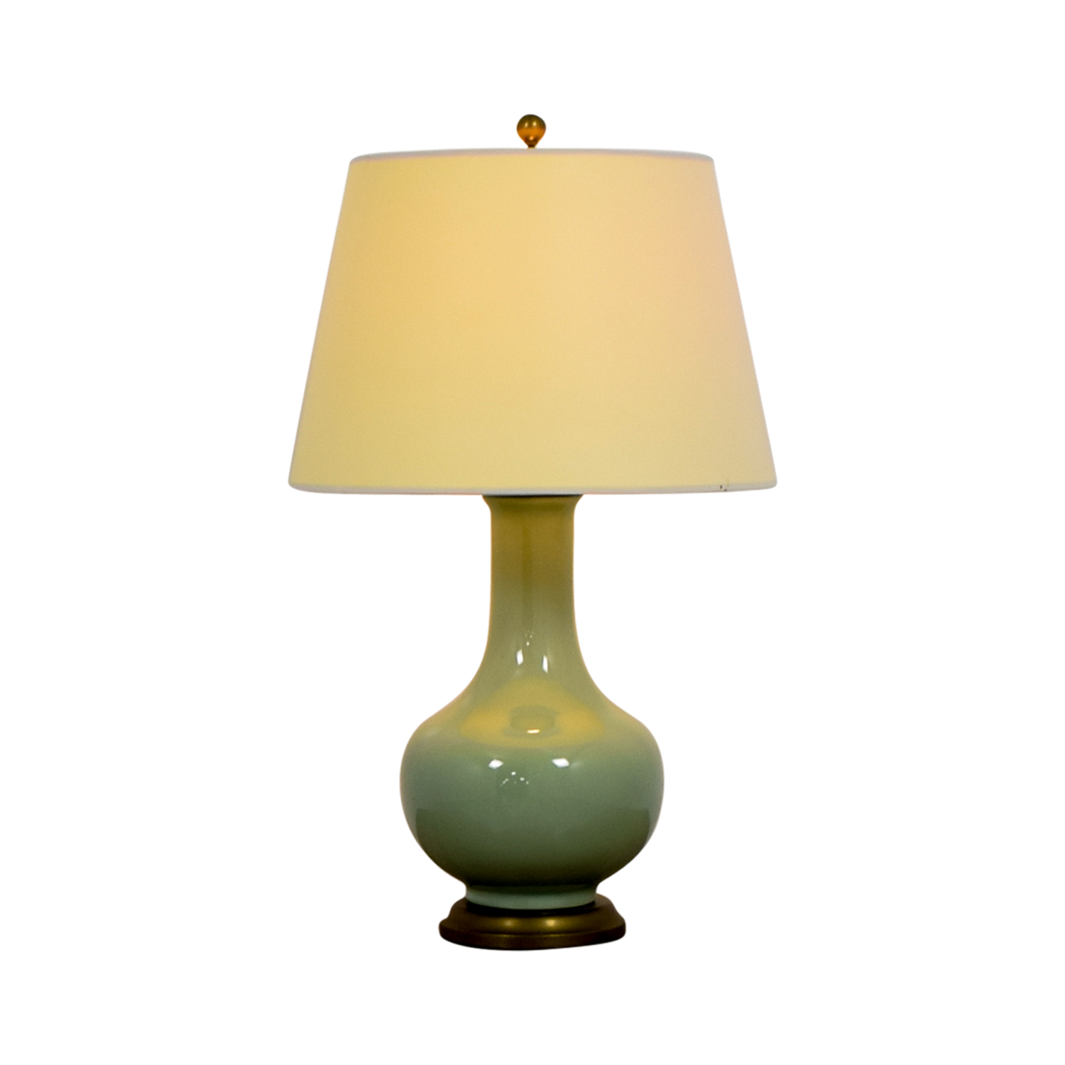 Williams Sonoma Home Williams Sonoma Home Mint Green Ceramic and Brass Table Lamp discount