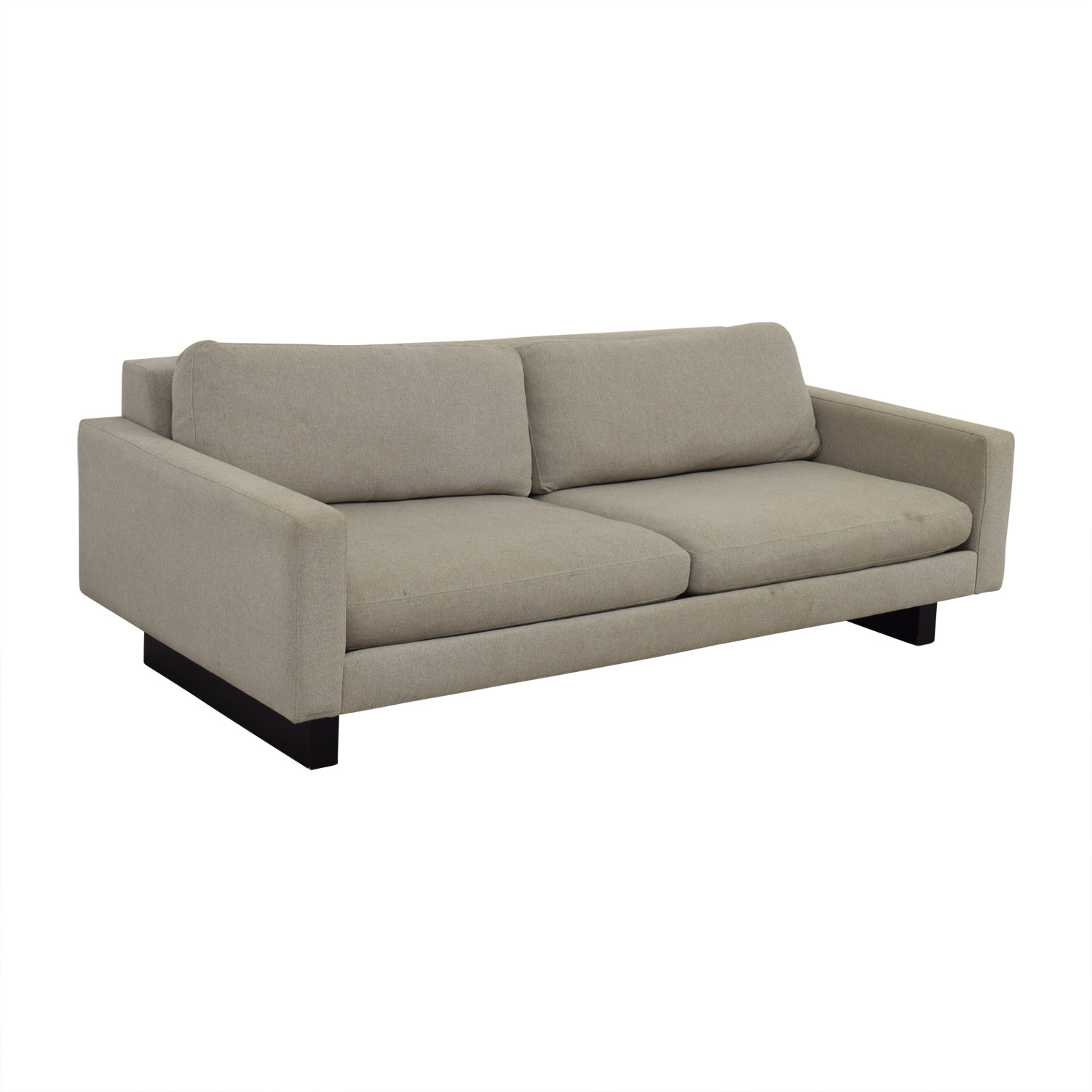 Room & Board Room & Board Beige Hess Two-Cushion Sofa OFF WHITE