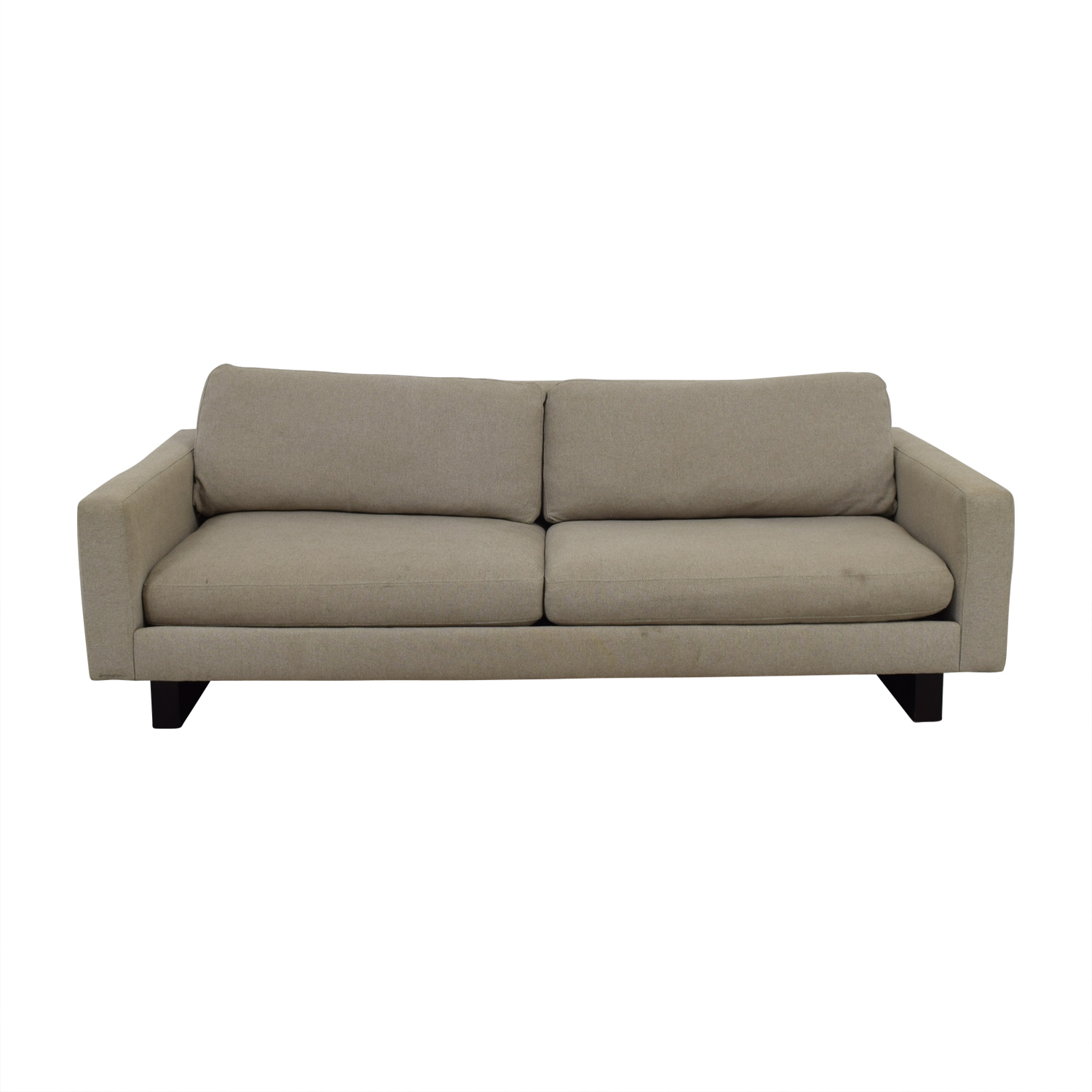 shop Room & Board Beige Hess Two-Cushion Sofa Room & Board Sofas