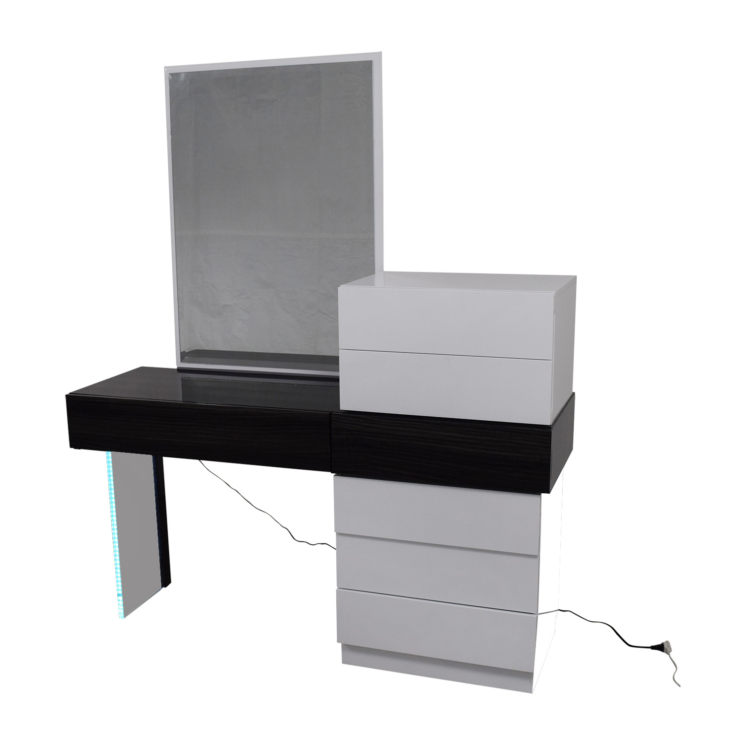 shop Wade Logan Linehan Seven-Drawer Dresser and Vanity or Desk with Mirror Wade Logan