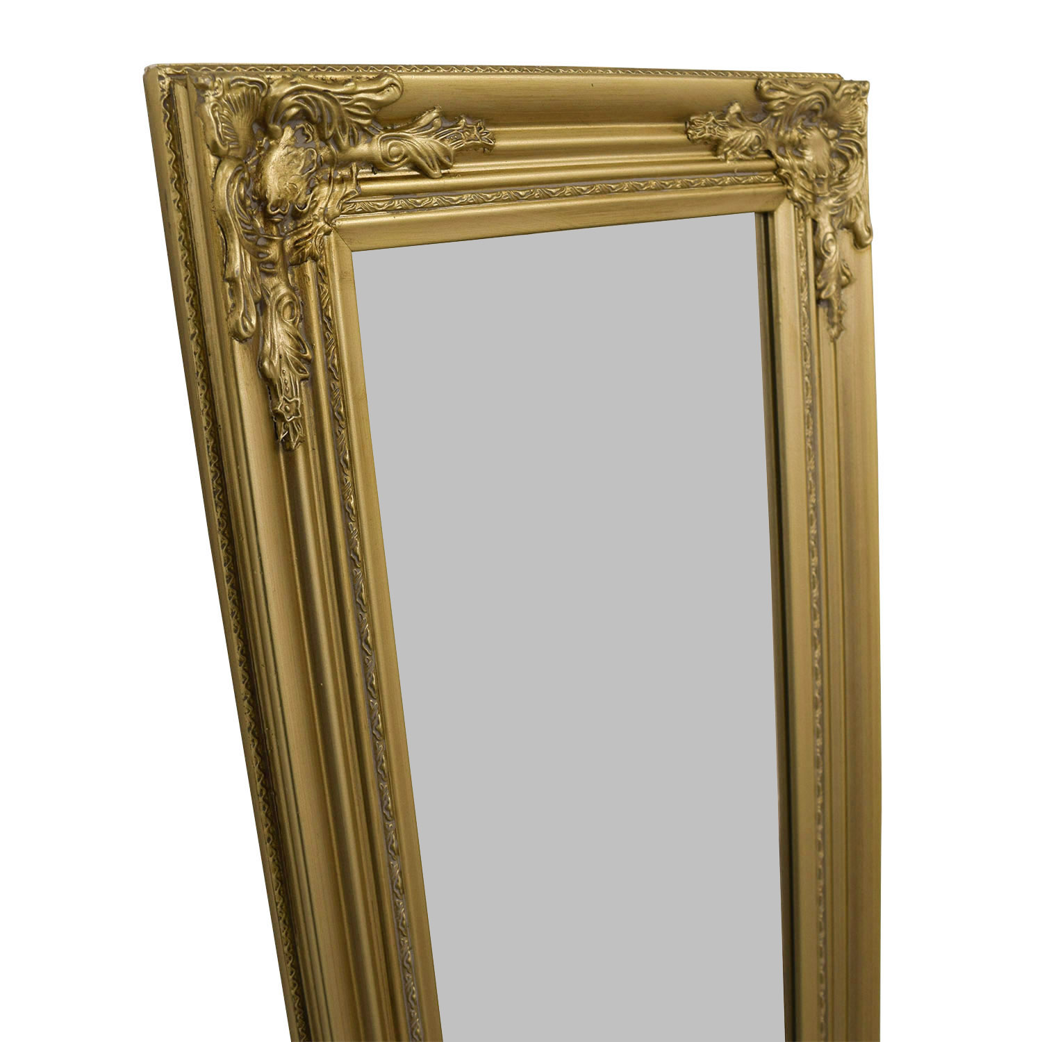 Full Length Ornate Gold Mirror Gold