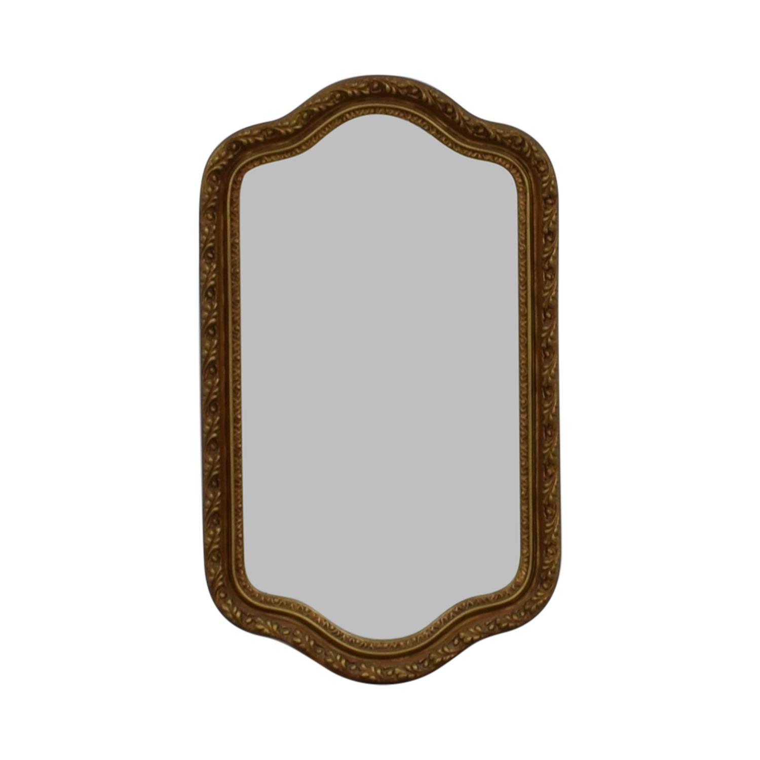 Crown Crown Gold Painted Wood Framed Mirror for sale