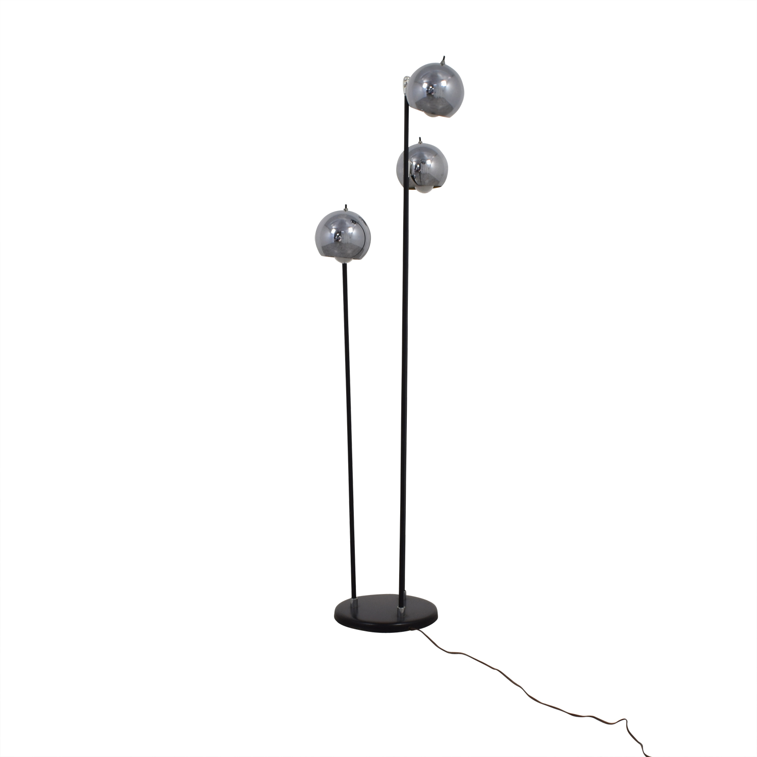 Modern Floor Lamp with Three Rounded Chrome Shades