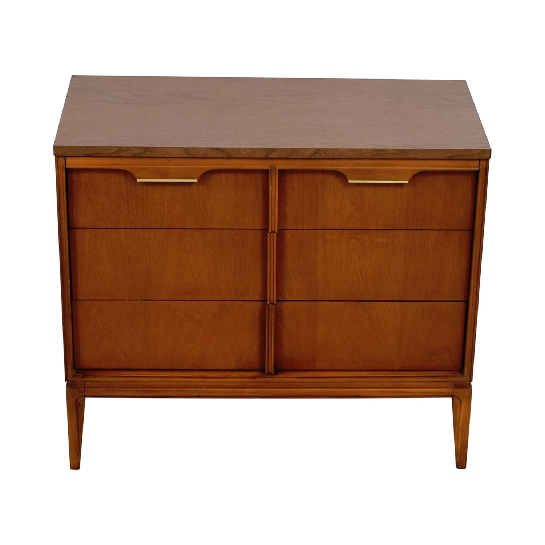 Basic-Witz Basic-Witz Six Drawer Wood Veneer Contemporary Dresser Dressers