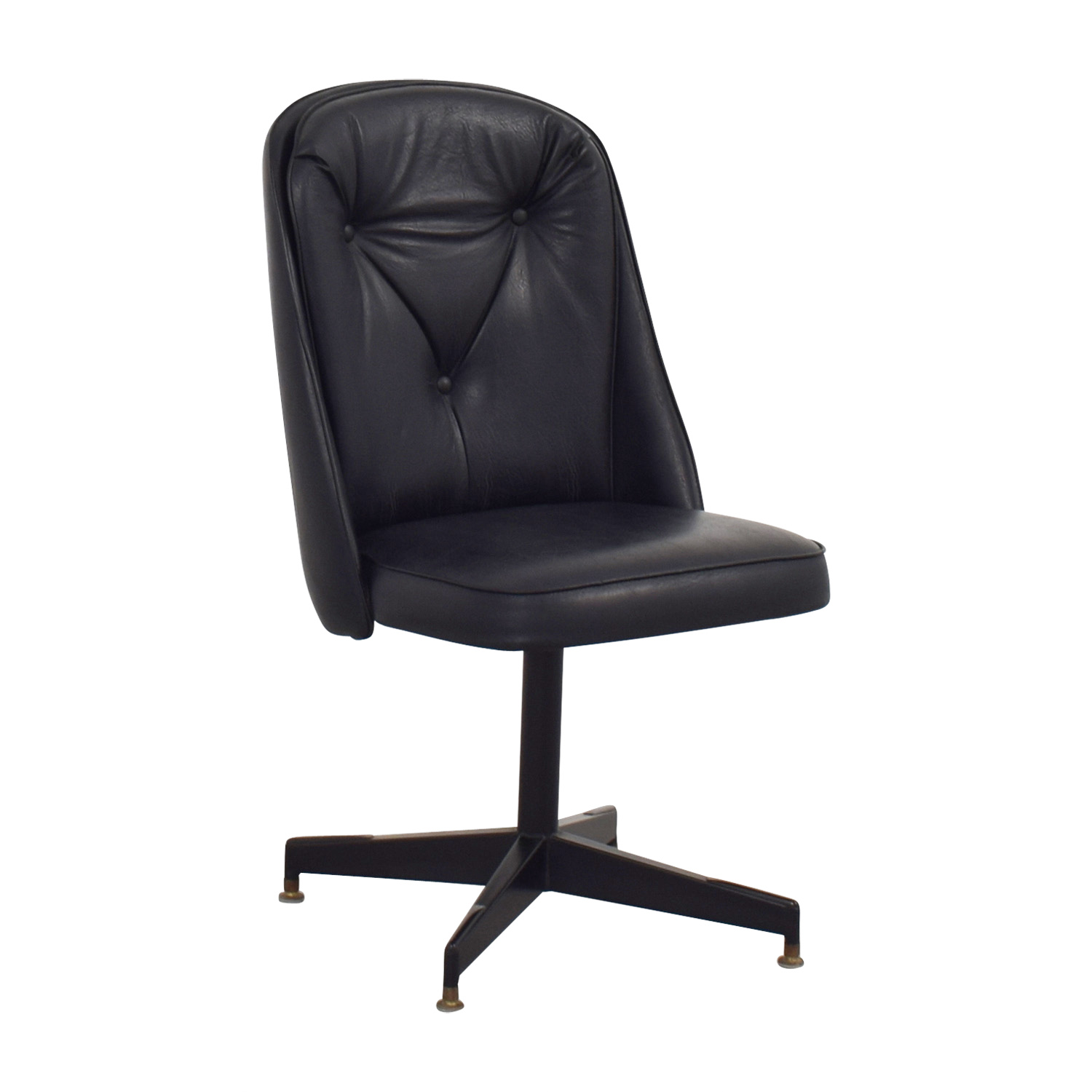 shop Black Leather Swivel Office Desk Chair