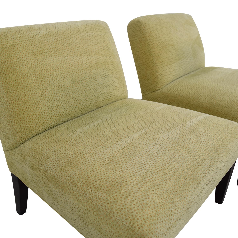 Custom Yellow Club Chairs Chairs