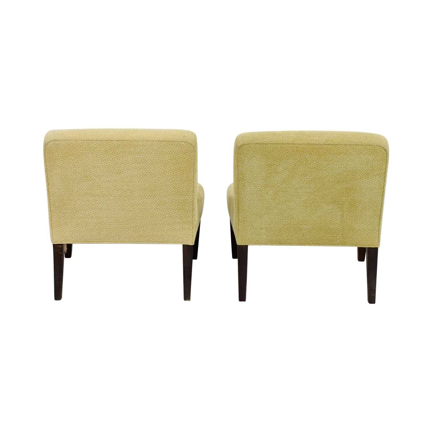 Custom Yellow Club Chairs Accent Chairs