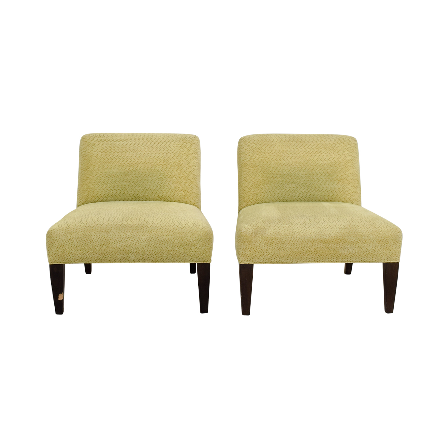 Custom Yellow Club Chairs sale