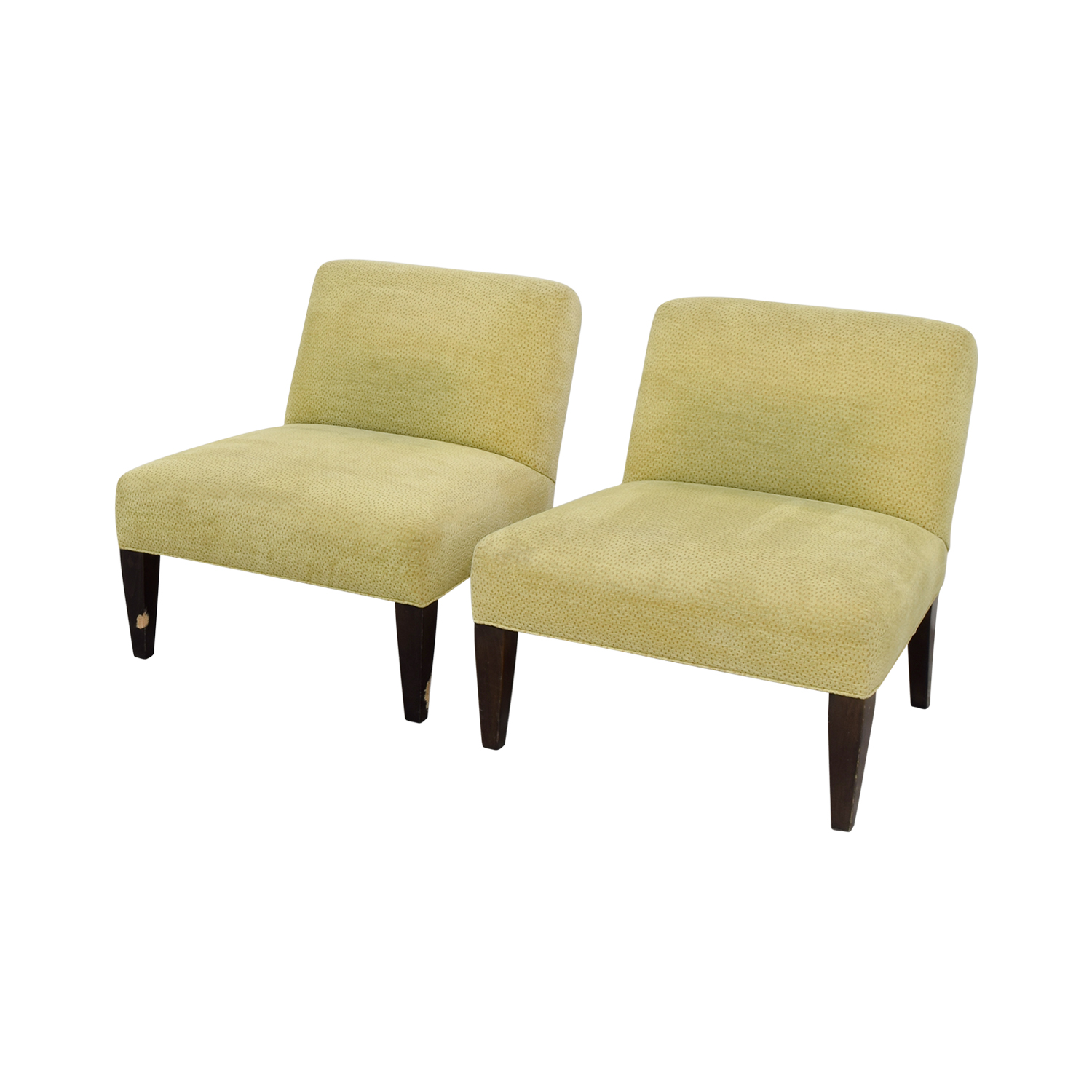Custom Yellow Club Chairs / Accent Chairs