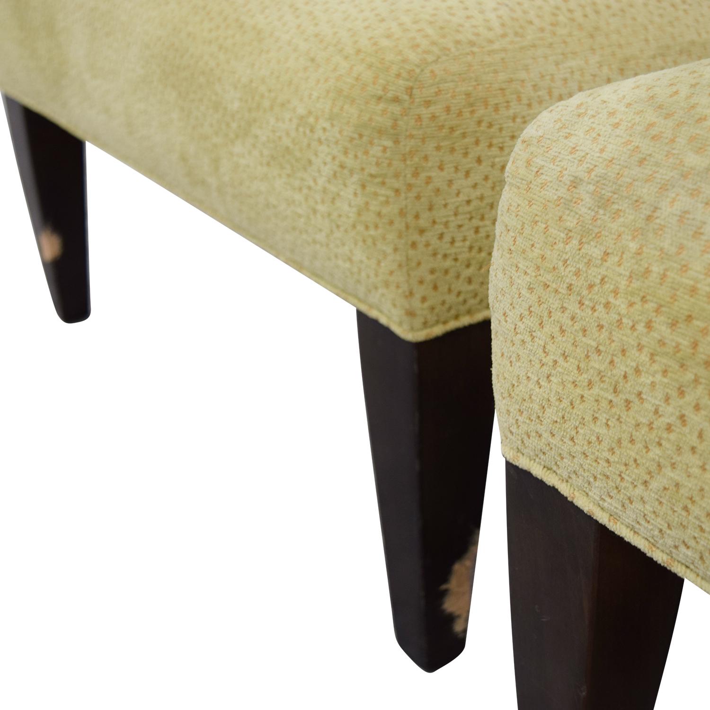 Custom Yellow Club Chairs second hand