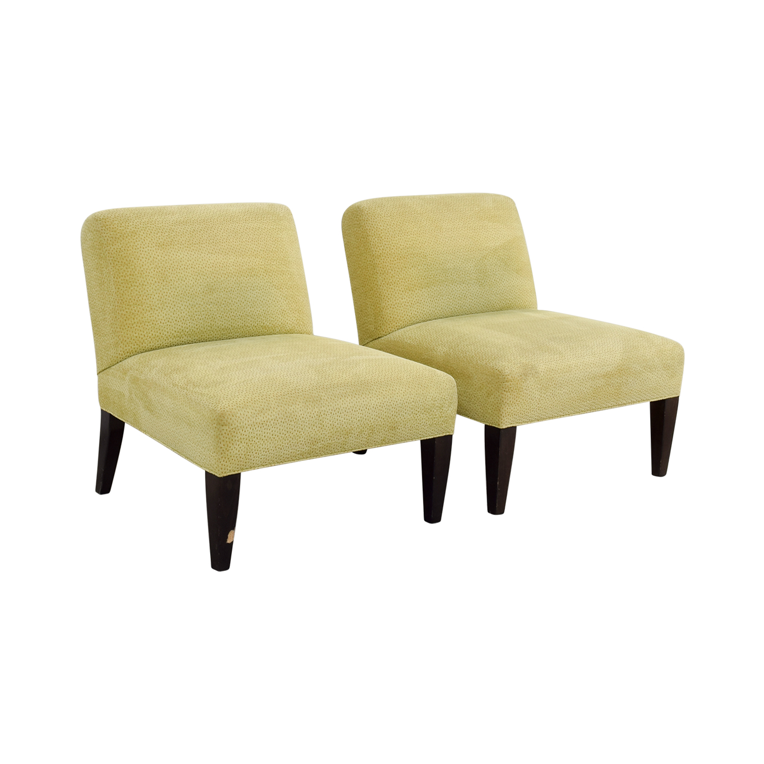 Custom Yellow Club Chairs