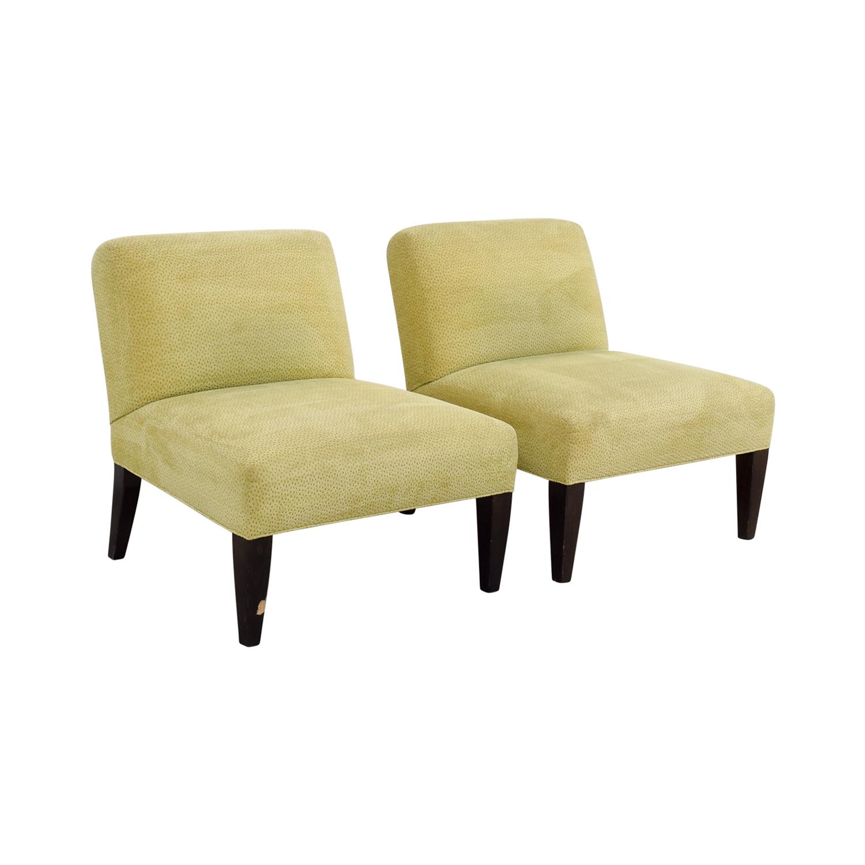 Custom Yellow Club Chairs