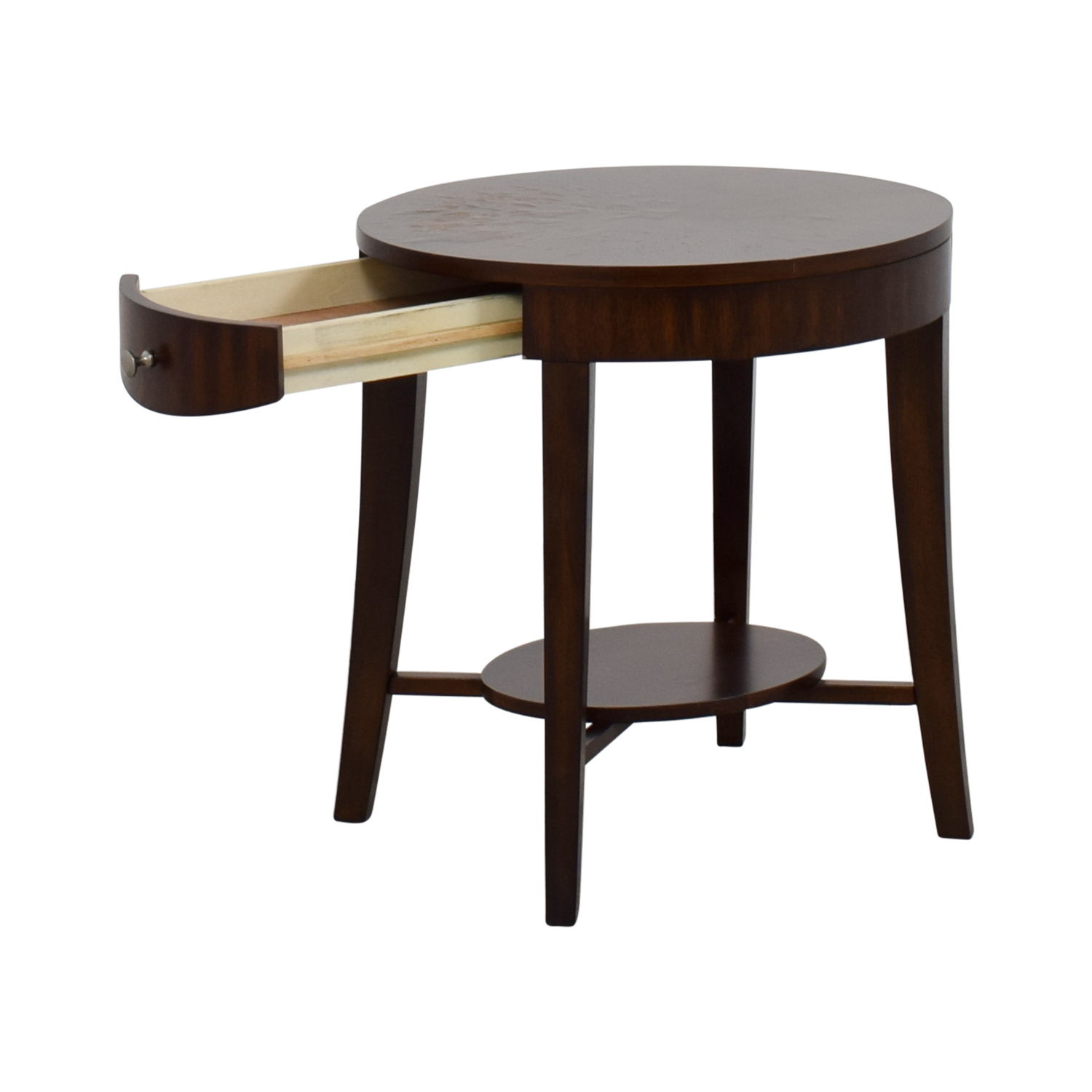 buy Raymour and Flanigan Round Side Table Raymour and Flannigan