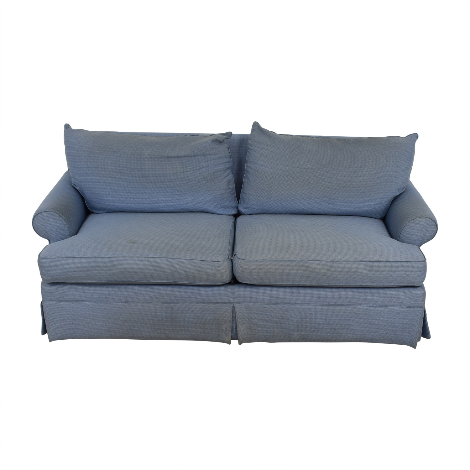 shop Ethan Allen Ethan Allen Blue Two-Cushion Sofa online