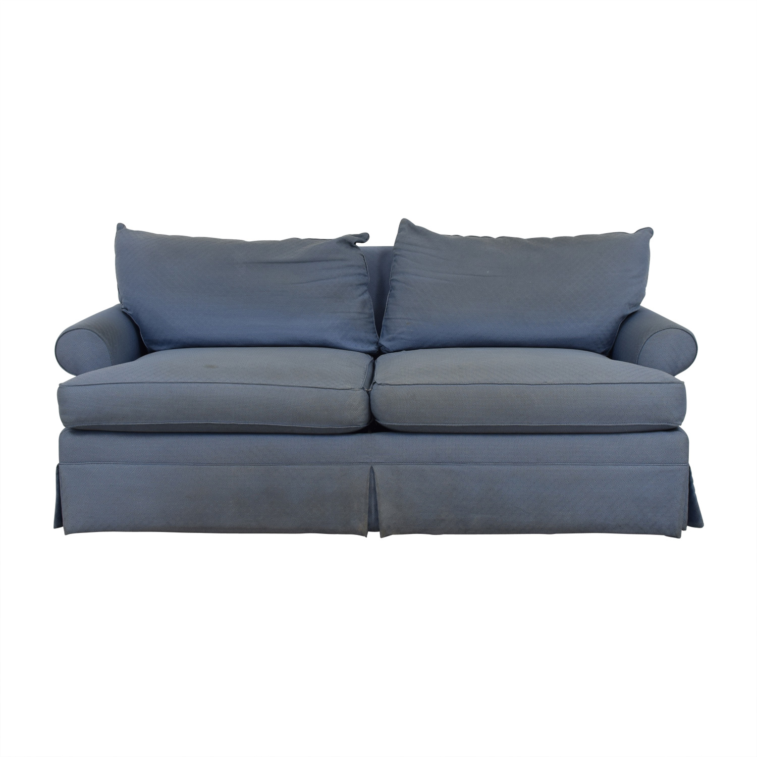 Ethan Allen Ethan Allen Blue Two-Cushion Sofa discount