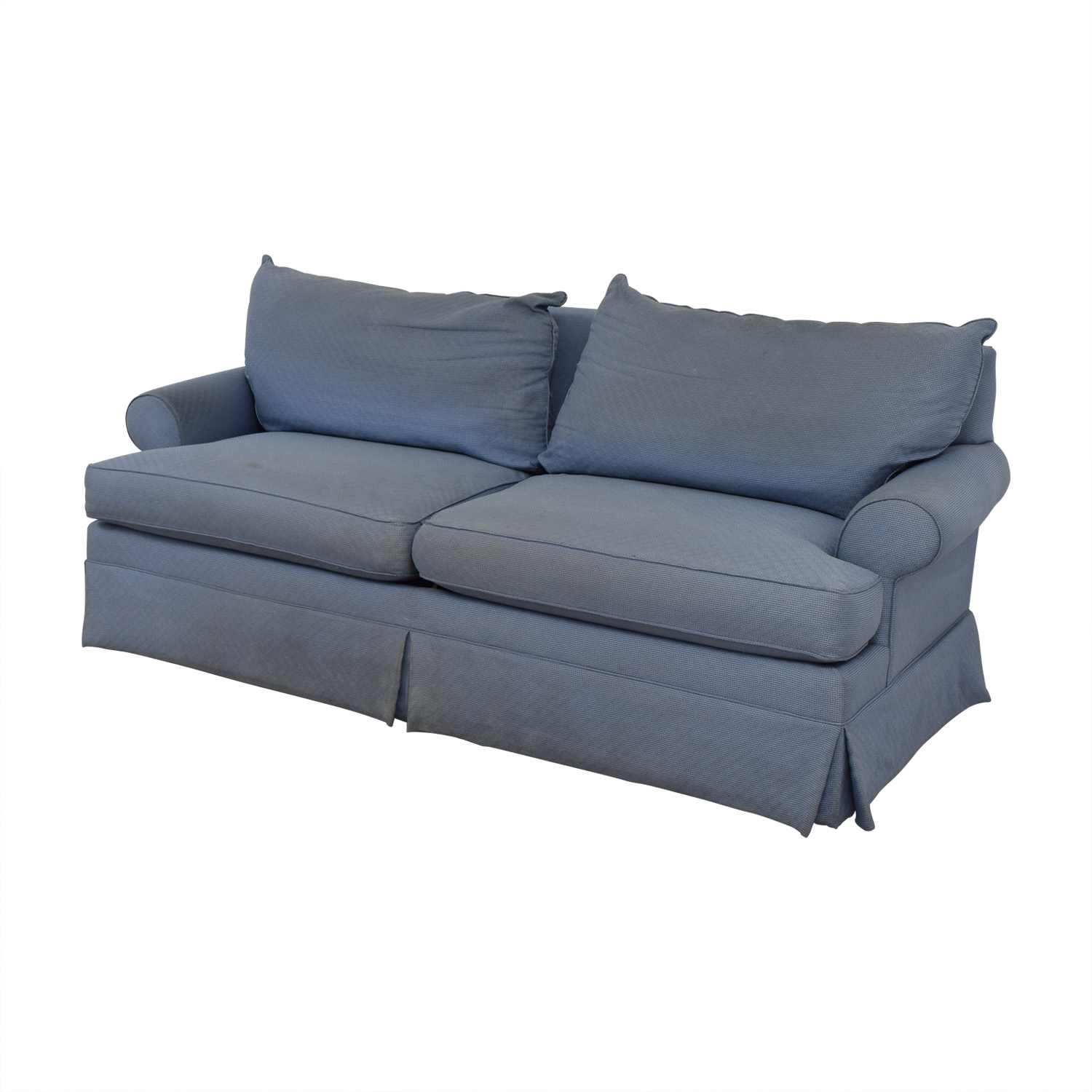 86 Off Ethan Allen Ethan Allen Blue Two Cushion Sofa Sofas