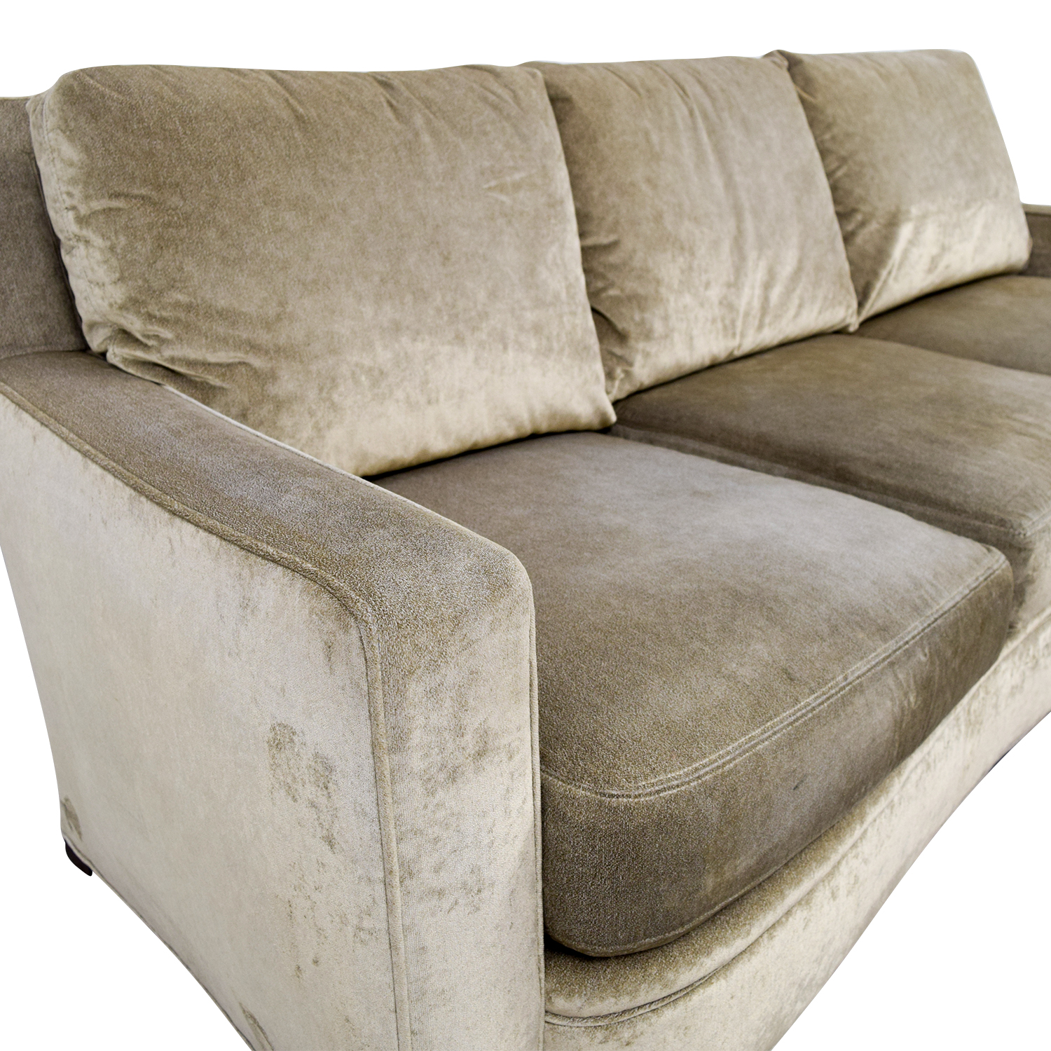 Kravit Furniture Beige Three-Cushion Curved Sofa / Sofas