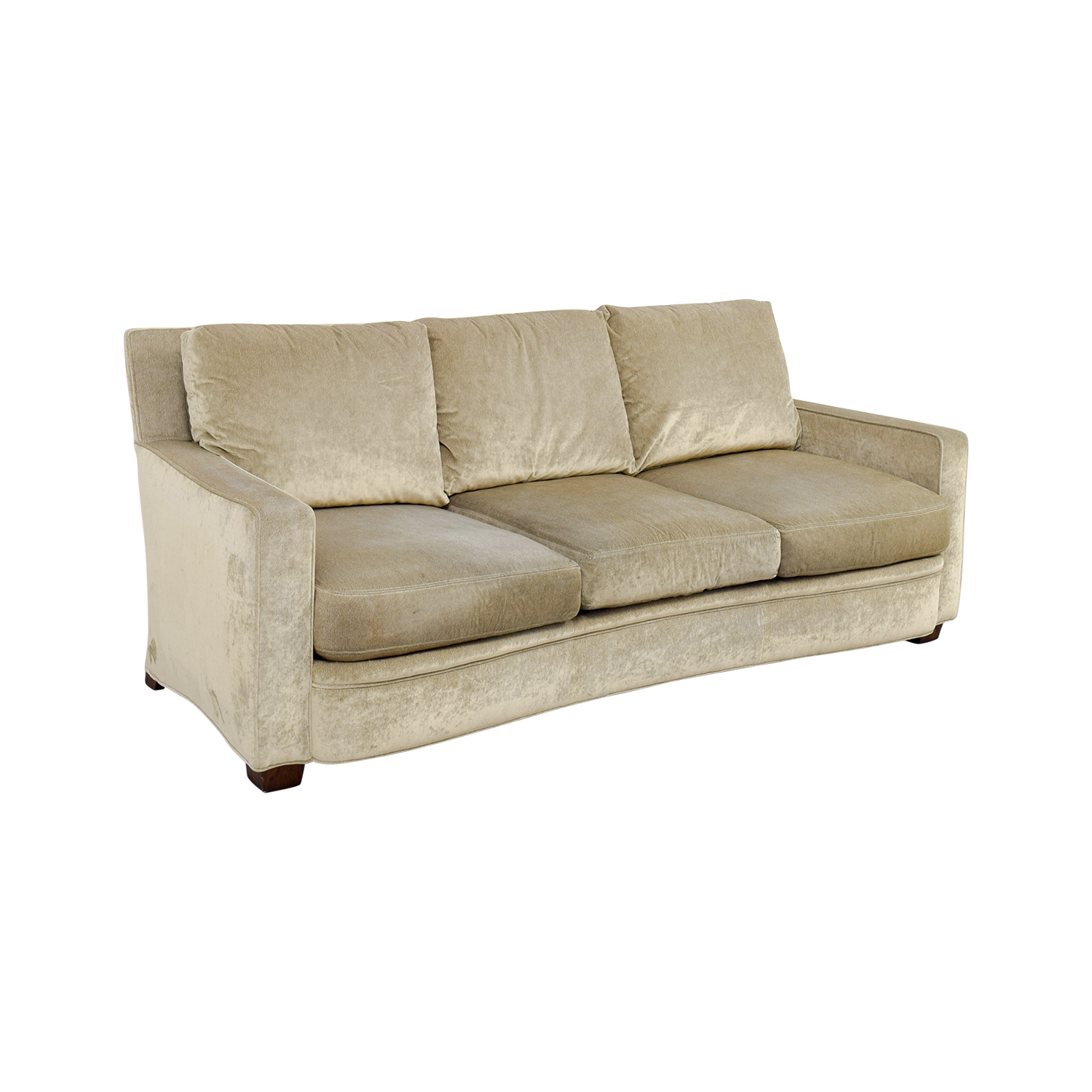 buy Kravit Furniture Beige Three-Cushion Curved Sofa Kravit Furniture Sofas