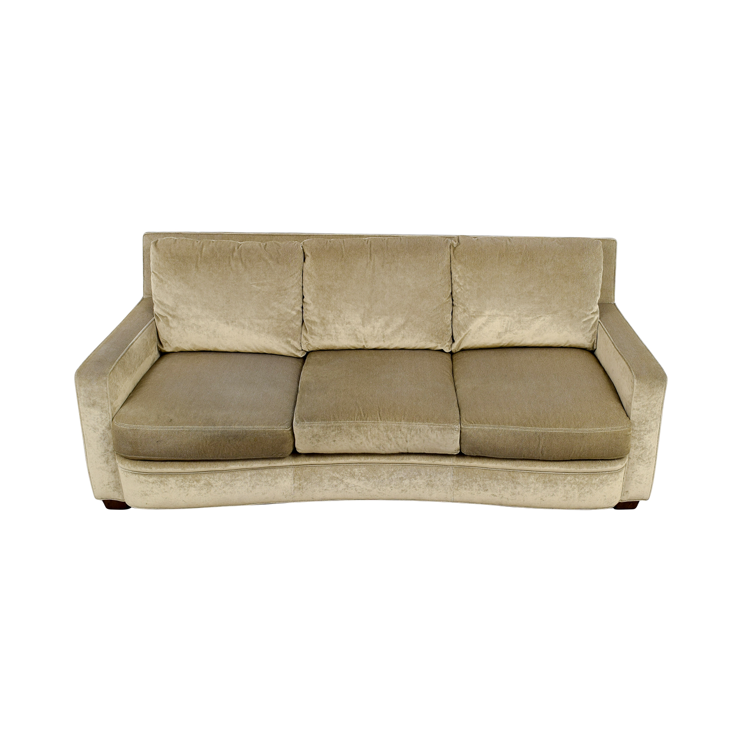 Kravit Furniture Kravit Furniture Beige Three-Cushion Curved Sofa Sofas