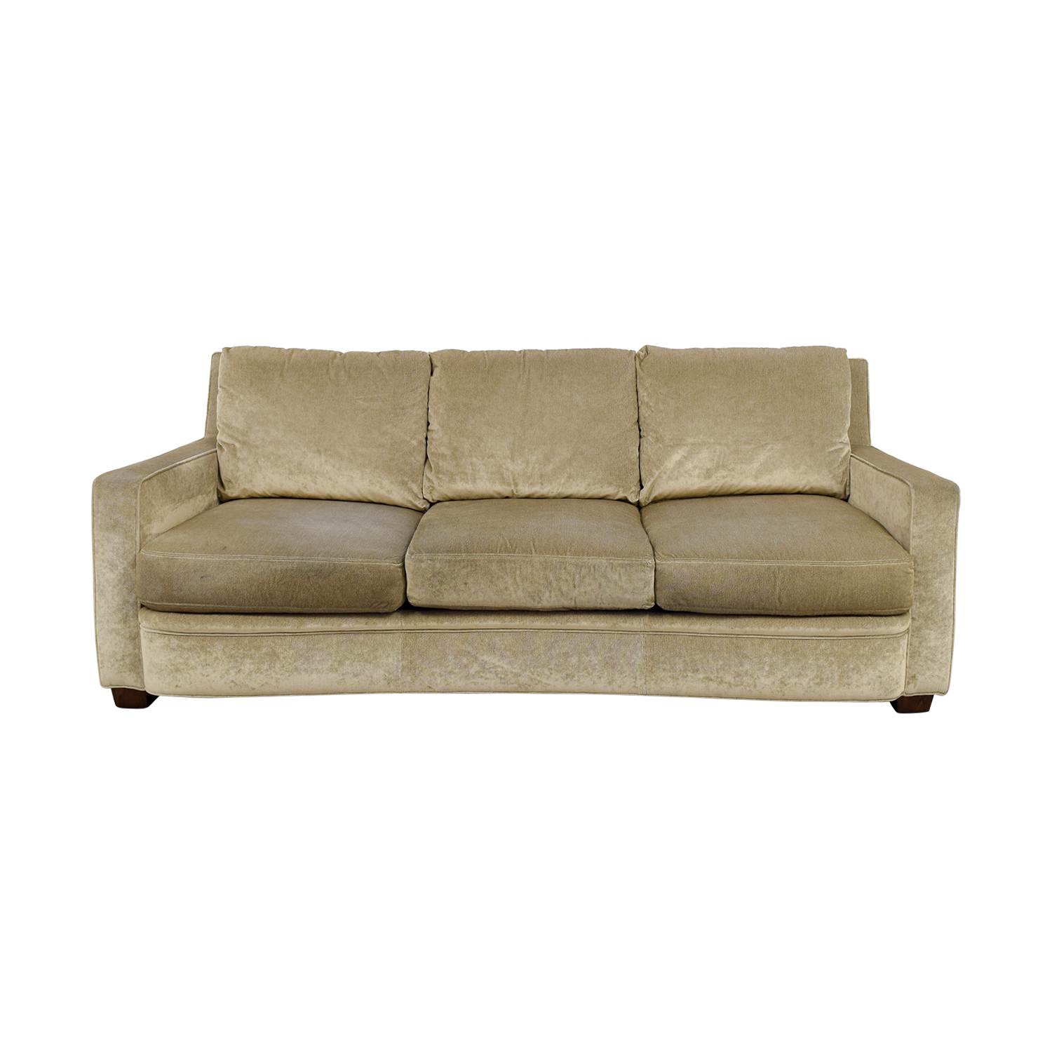 Kravit Furniture Kravit Furniture Beige Three-Cushion Curved Sofa