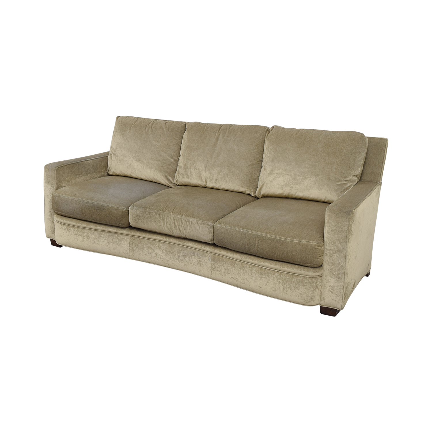 buy Kravit Furniture Kravit Furniture Beige Three-Cushion Curved Sofa online