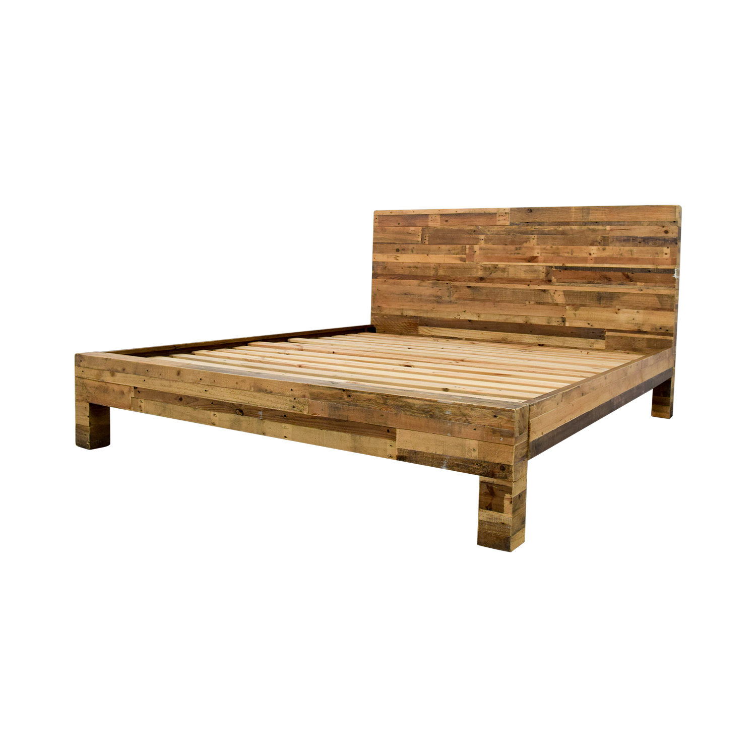 58% OFF - West Elm West Elm Emmerson® Reclaimed Natural Wood King Bed / Beds