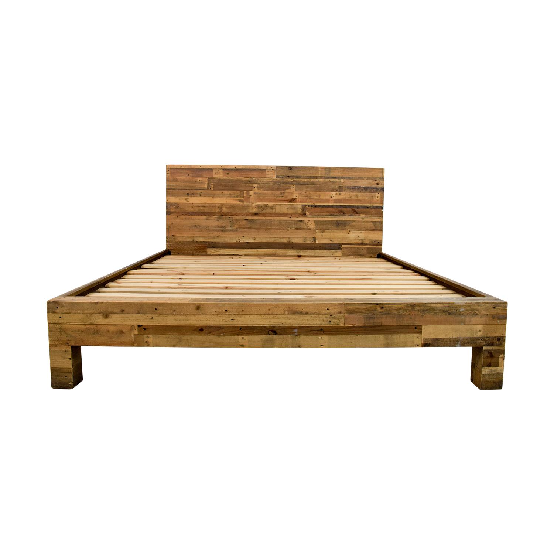 58 Off West Elm Emmerson Reclaimed Natural Wood King Bed Beds