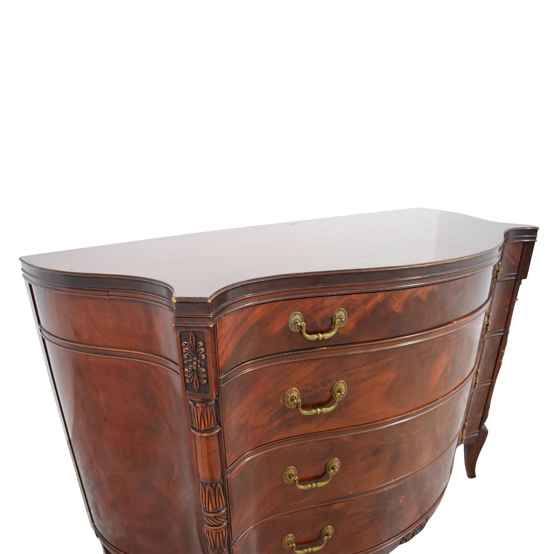 shop 1940s Antique Flame Mahogany Four-Drawer Dresser Dressers