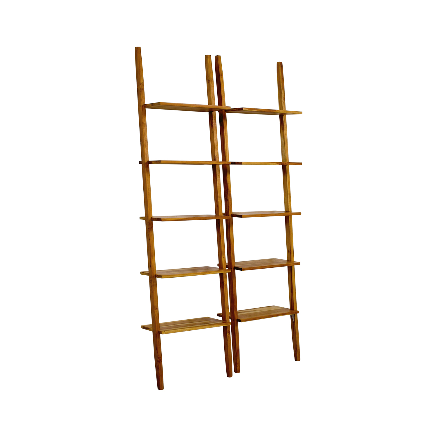 Room & Board Wood Ladder Bookshelves / Storage