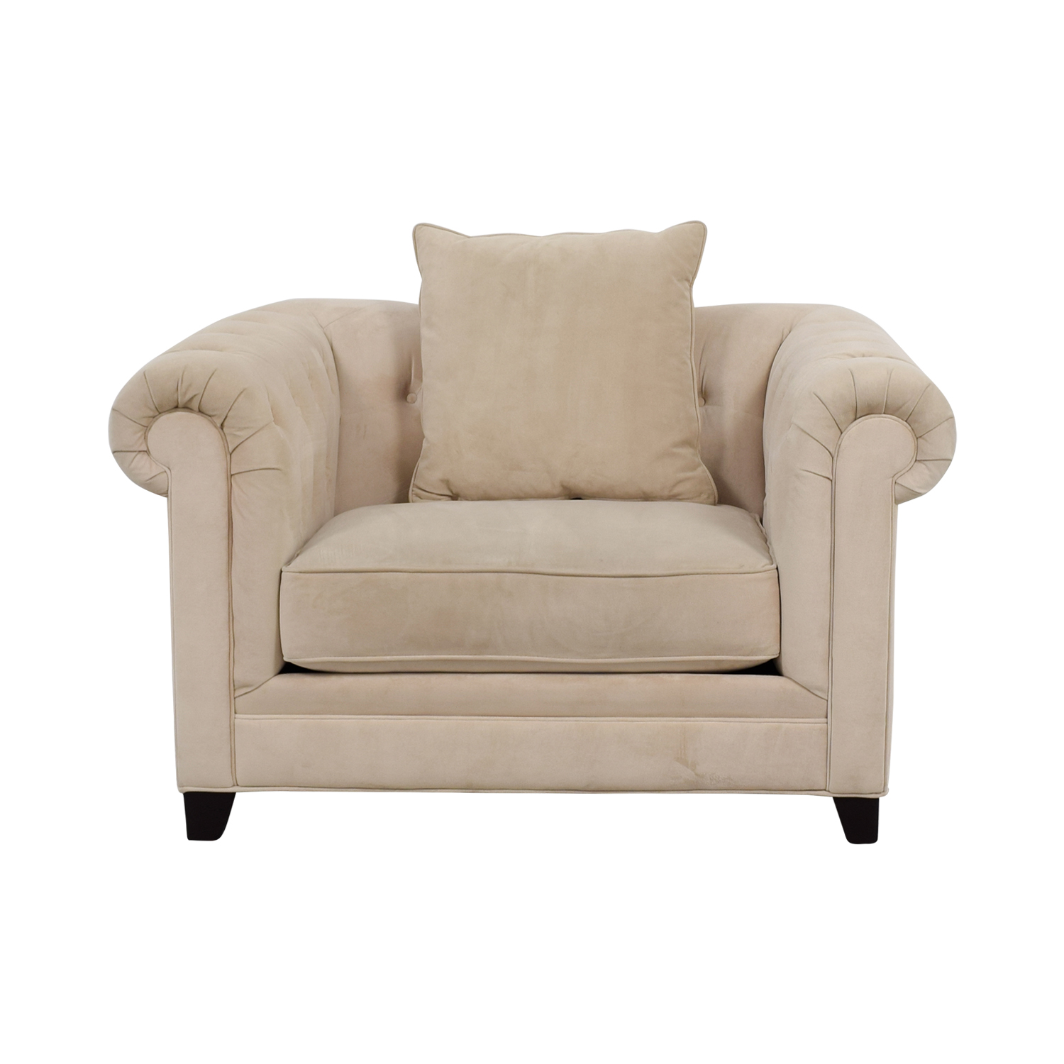 Martha Stewart for Macys Off White Tufted Loveseat Martha Stewart for Macys