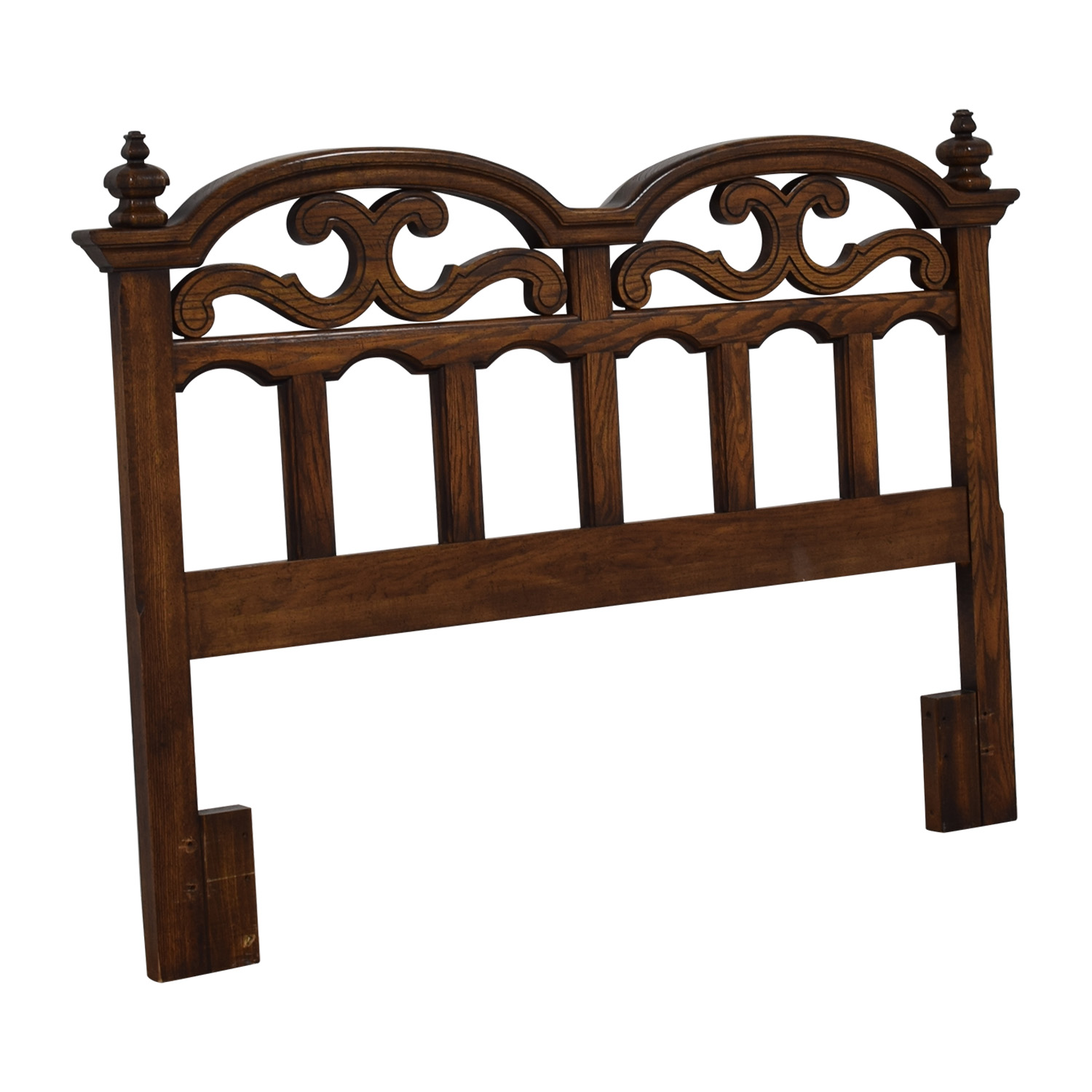 American Drew Solid Oak Cut-Out Carved Headboard / Beds