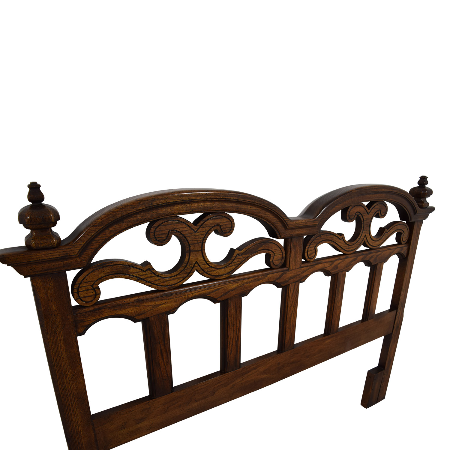 buy American Drew American Drew Solid Oak Cut-Out Carved Headboard online
