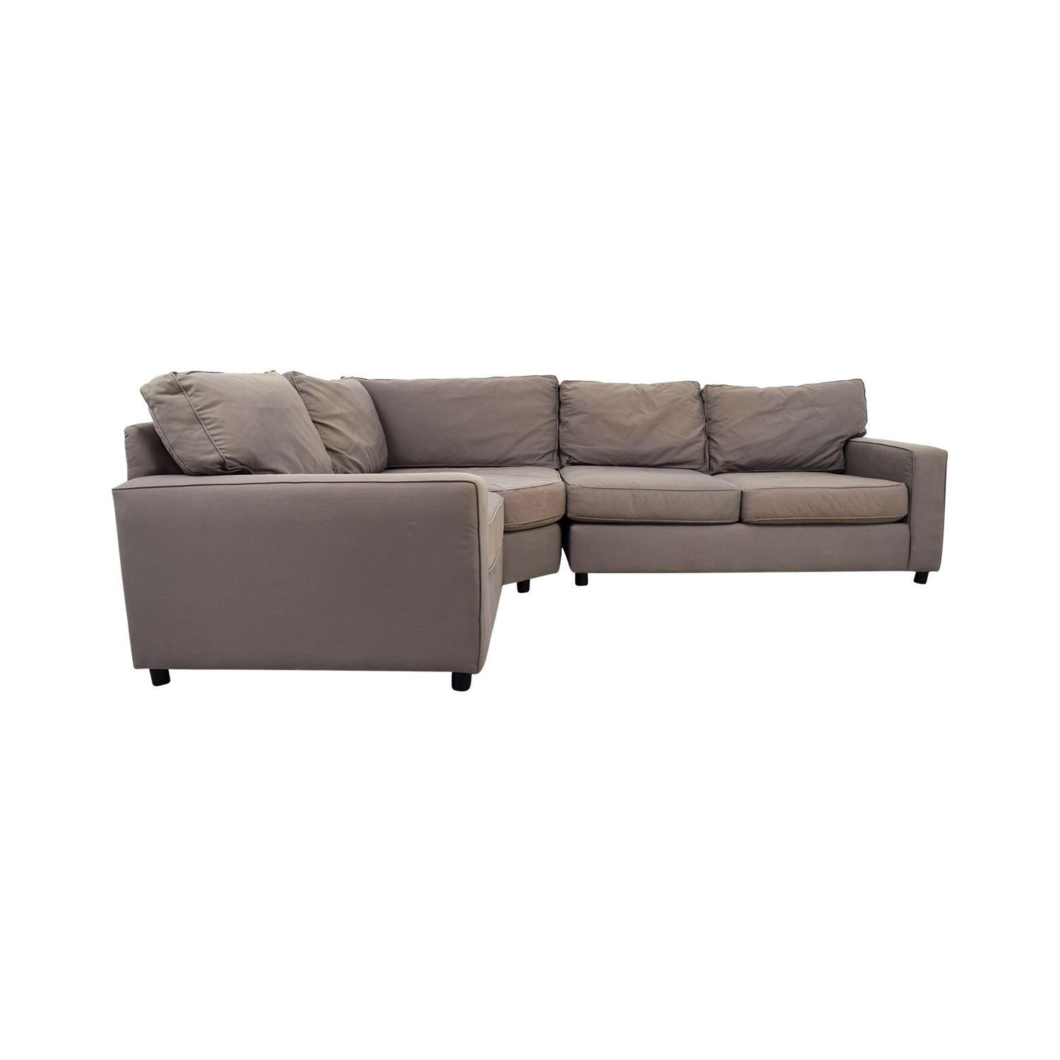 Pottery Barn Grey Sectional Sofa On