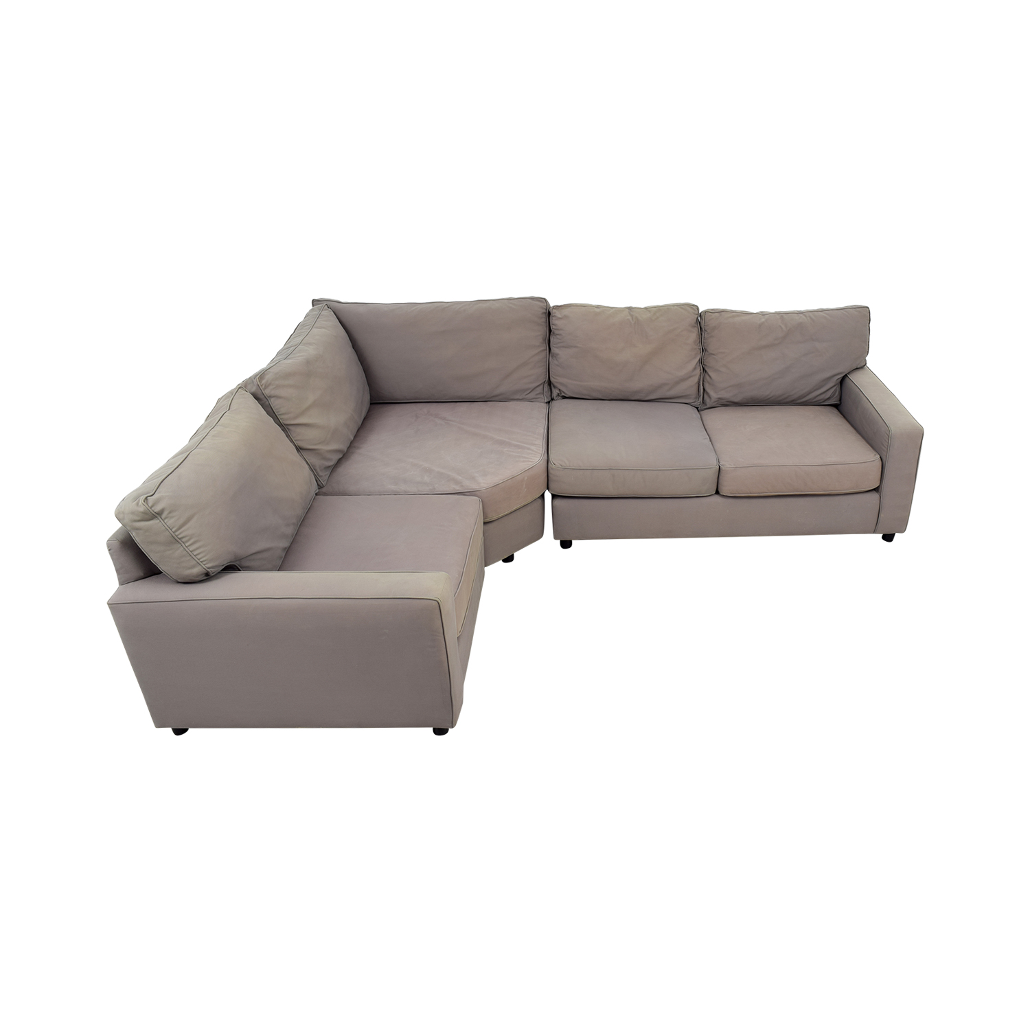 shop Pottery Barn Grey Sectional Sofa Pottery Barn Sofas