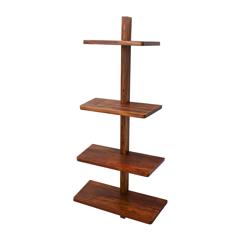 CB2 Wood Floating Wall Shelf sale